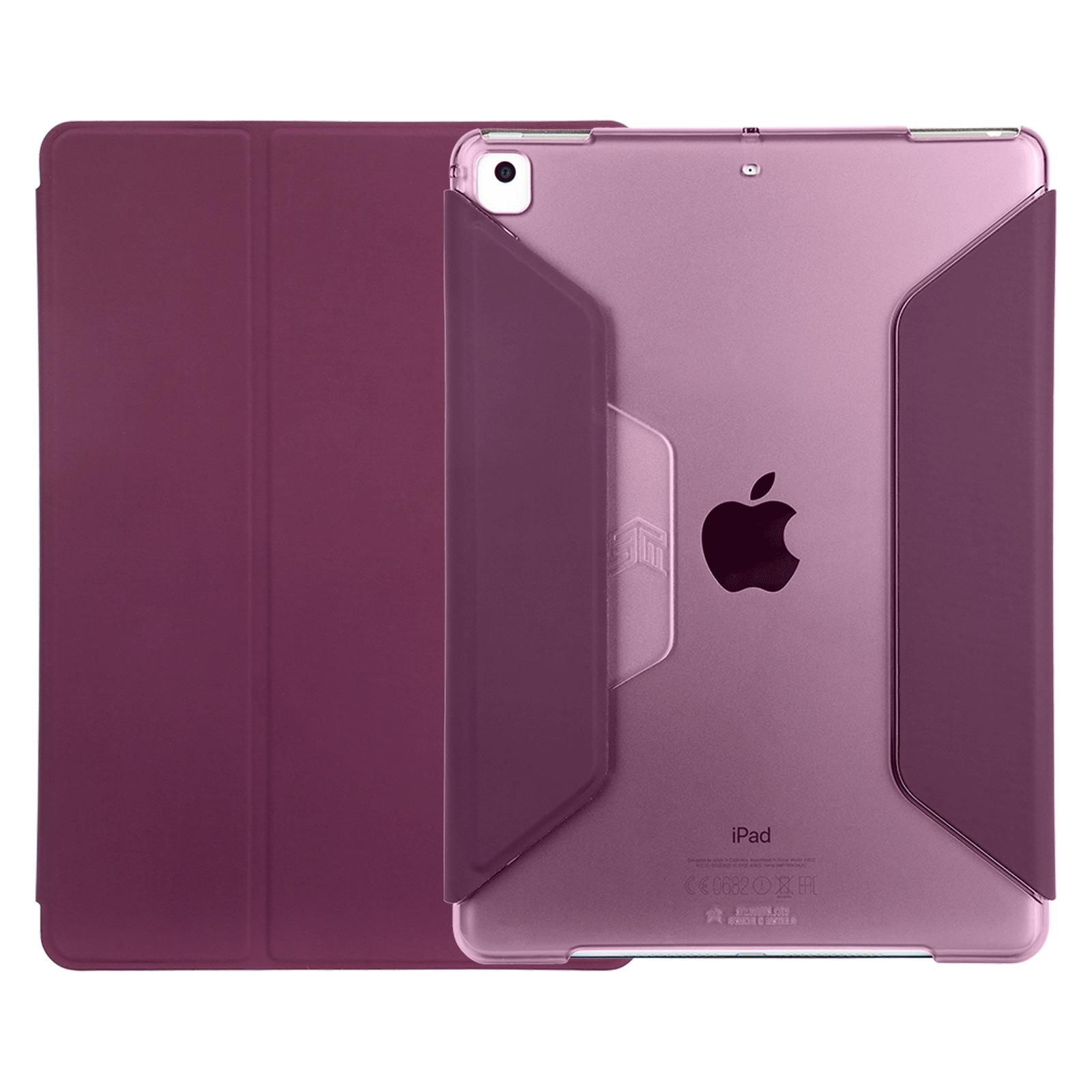 STM Studio Polycarbonate, Polyurethane Flip Case For iPad Mini 4th/5th Gen (Multiple Viewing Modes, STM-222-161GY-02, Purple)_1