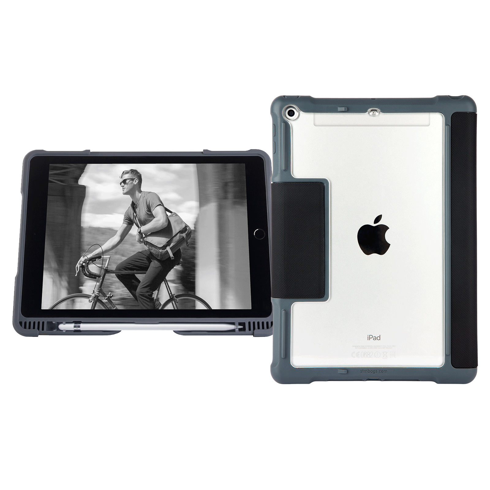 STM Dux Plus Polycarbonate, Rubberised, Polyurethane Flip Case For iPad 9.7 Inch 6th Gen (Instant On/Off Cover, STM-222-165JW-01, Black)_1