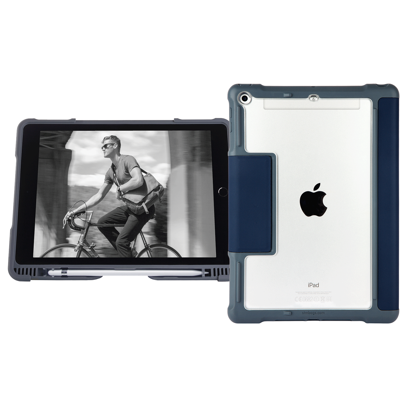STM Dux Plus Polycarbonate, Rubberised, Polyurethane Flip Case For iPad 9.7 Inch 6th Gen (Instant On/Off Cover, STM-222-165JW-03, Midnight Blue)_1