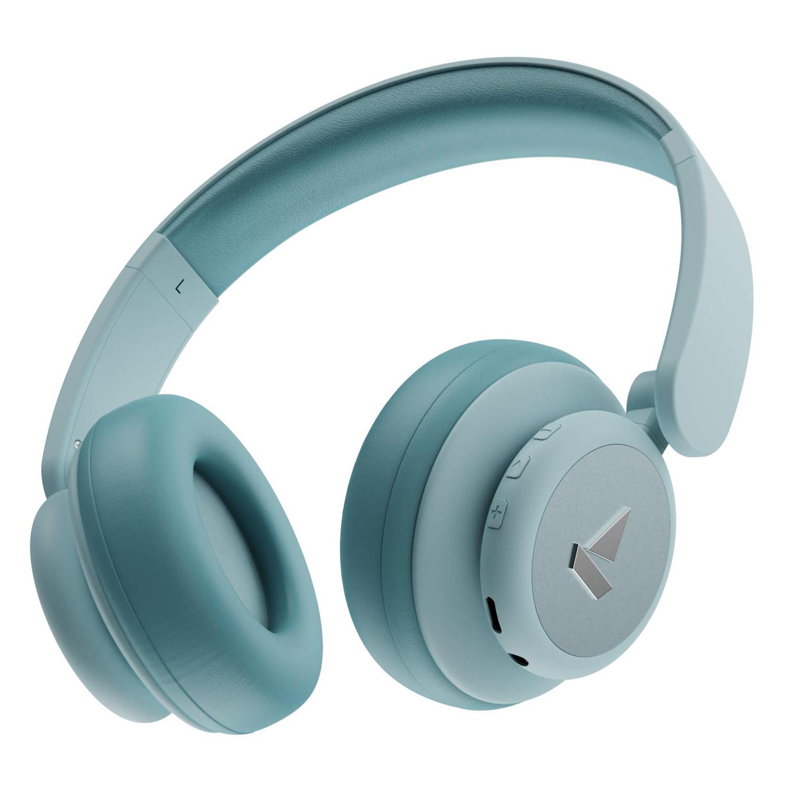 boAt On-Ear Wireless Headphone with Mic (Bluetooth 5.0, Rockerz 450 Pro, Aqua Blue)_1