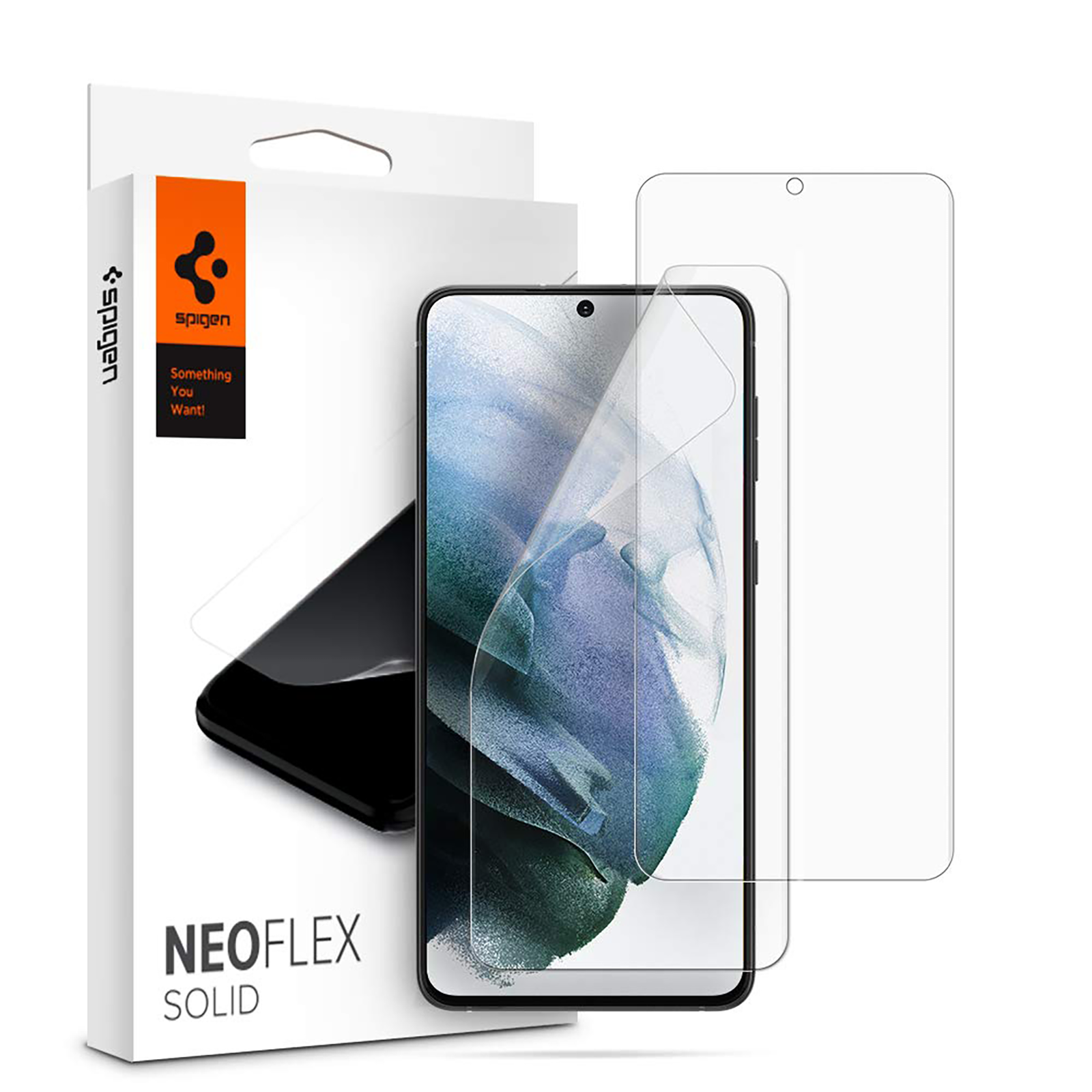 Spigen NeoFlex Solid Screen Protector for Samsung Galaxy S21 Plus (Undisturbed Touch Response, AFL02536, Clear)_1