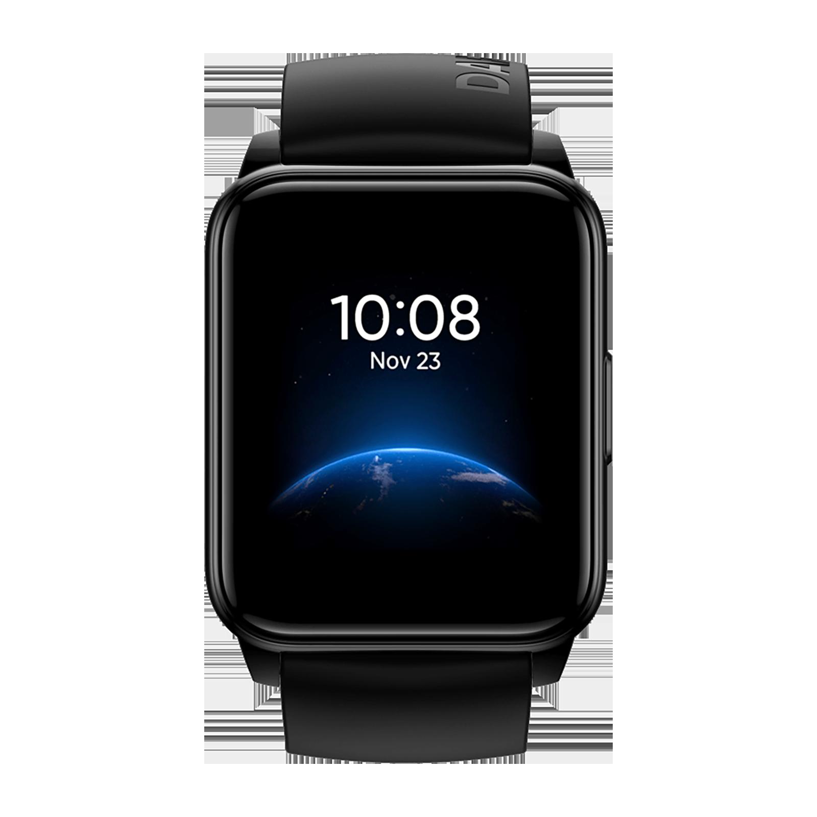 Realme Watch 2 Smart Watch (38mm)(IP 68 Water resistance,RMW2008,Black/ Black,Silicon)