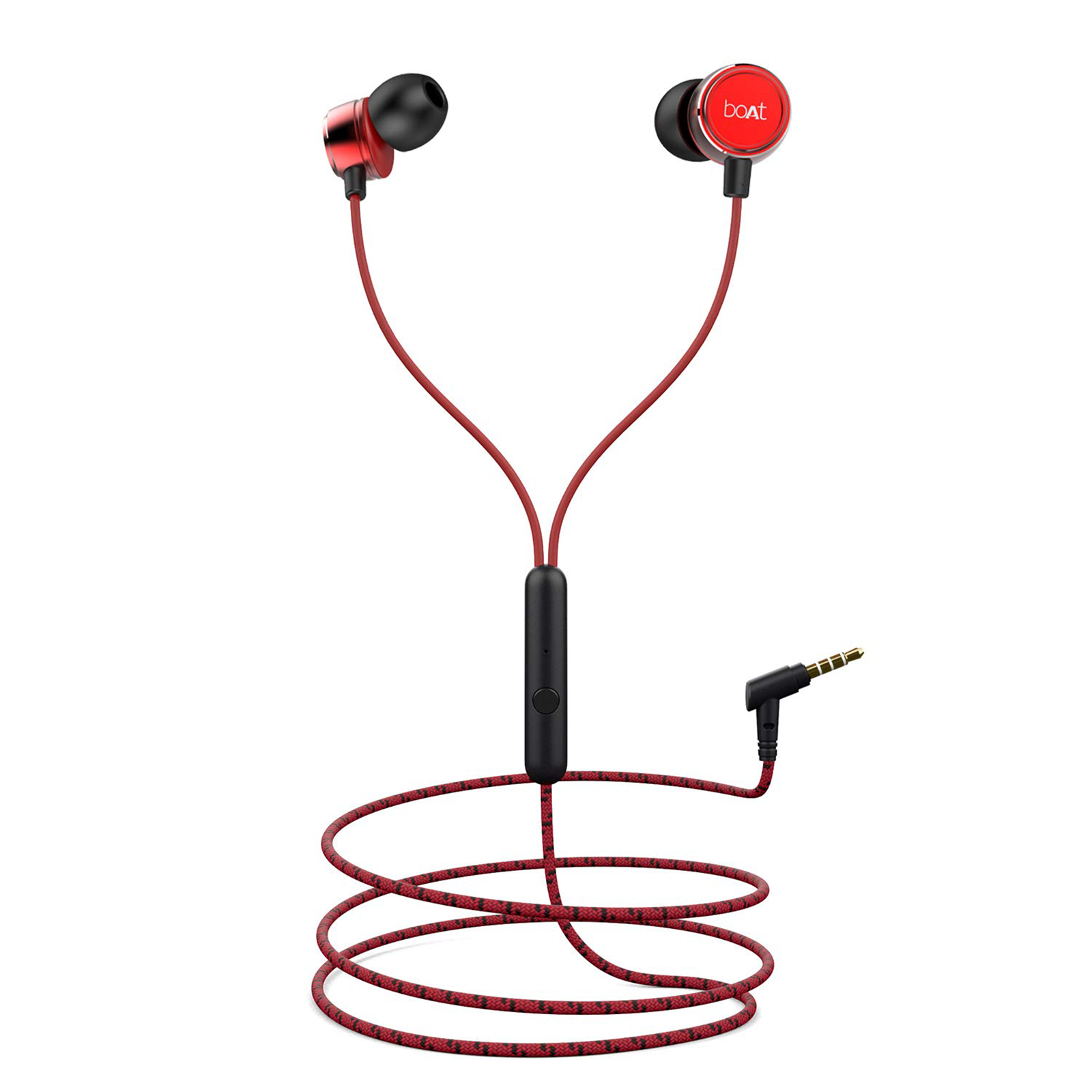 boAt In-Ear Wired Earphone with Mic(Super Extra Bass, Bassheads 172, Raging Red)_1