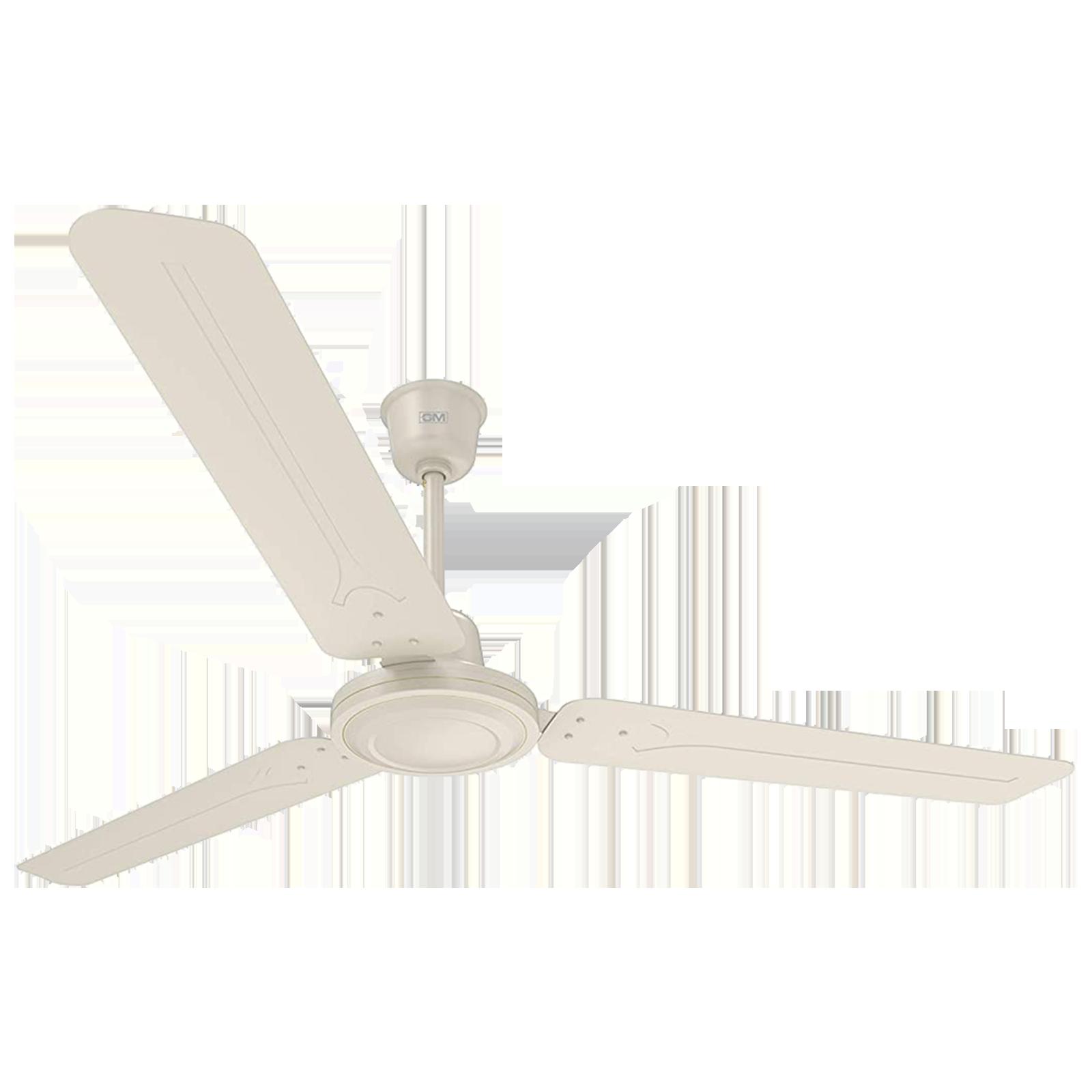 GM Breeze 120 cm Sweep 3 Blade Ceiling Fan (Energy Efficient, CFB480008IVGL, White)_1