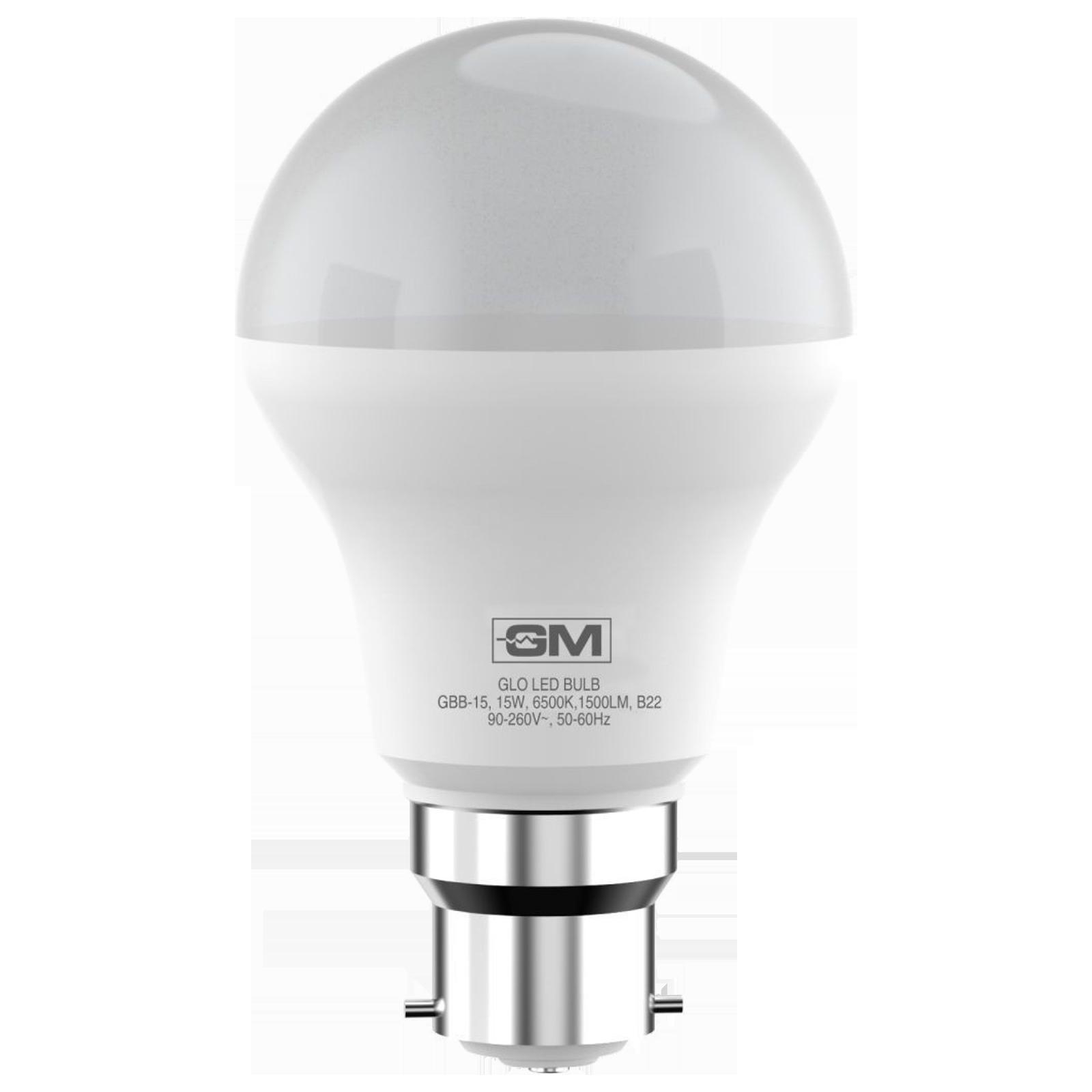 GM GLO 15 Watts Electric Powered LED Bulb (1500 Lumens, GBB-15-6.5K-6500K, White)_1