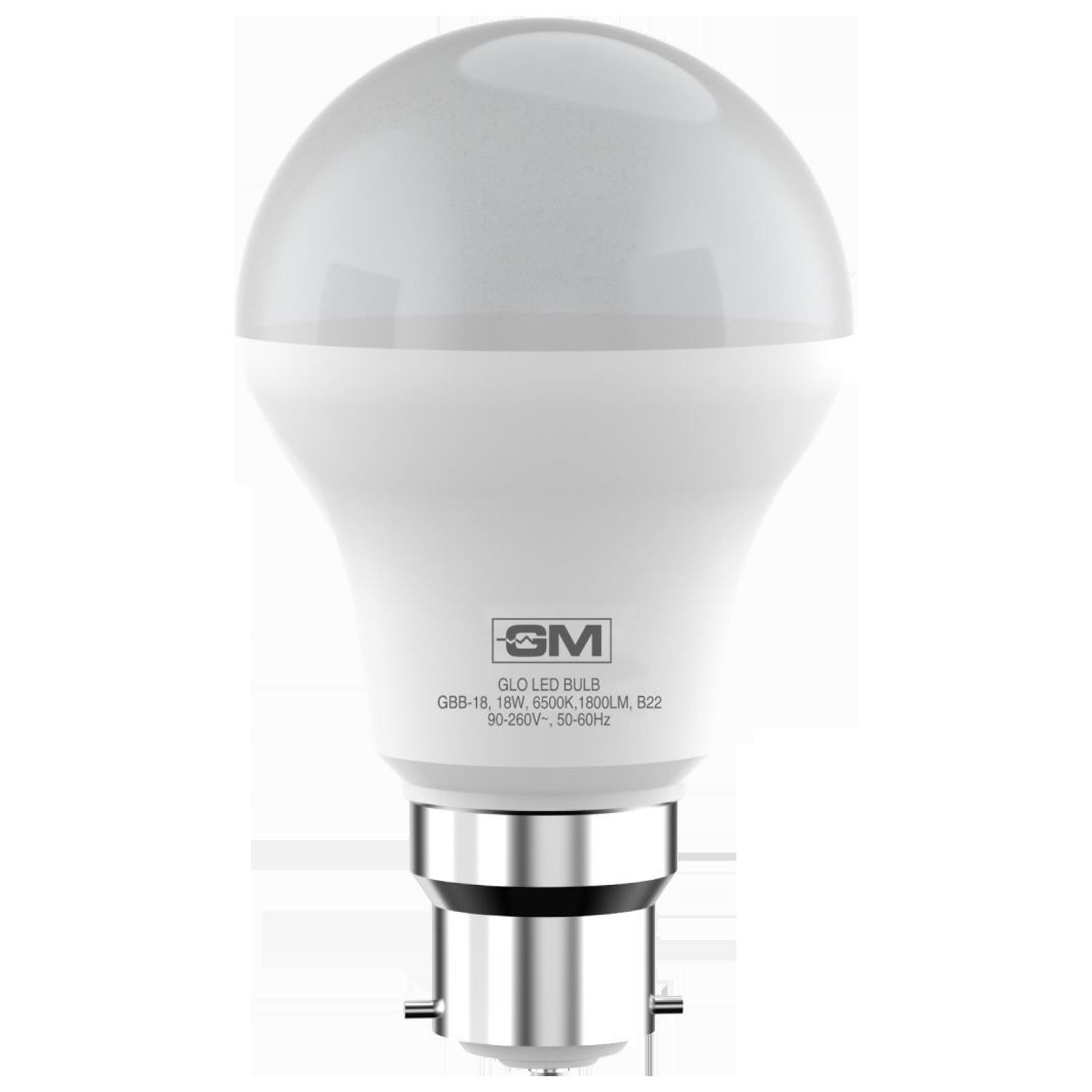 GM GLO 18 Watts Electric Powered LED Bulb (1800 Lumens, GBB-18-6.5K-6500K, White)_1