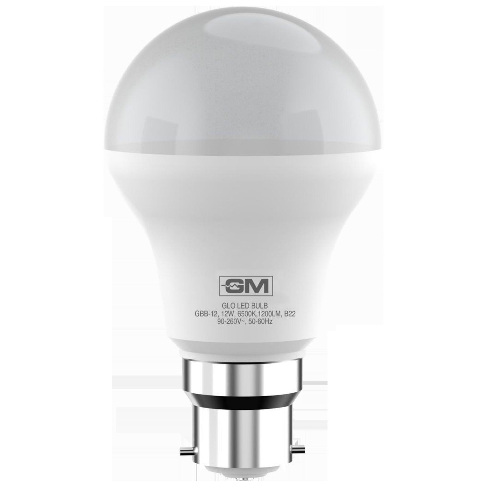 GM GLO 12 Watts Electric Powered LED Bulb (1200 Lumens, GBB-12-6.5K-6500K, White)_1