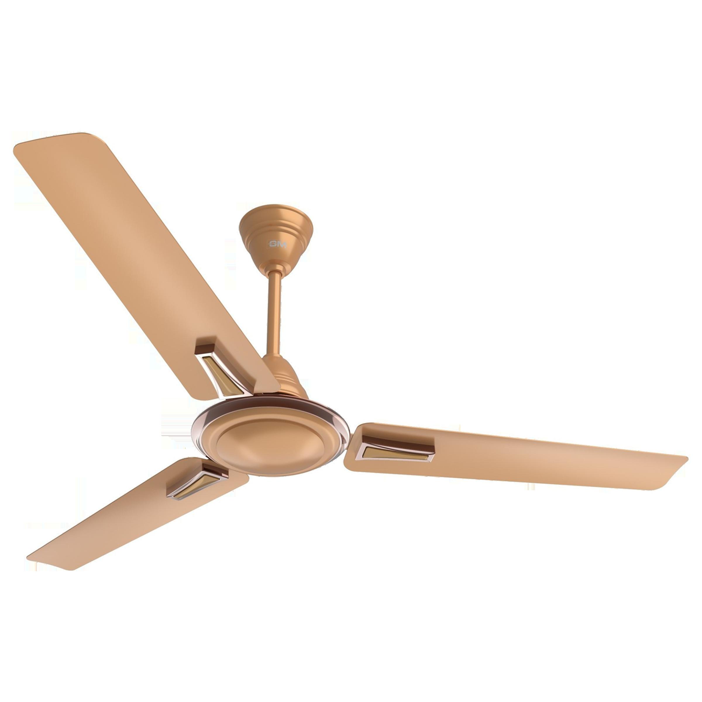 GM Airwave Premium 120 cm Sweep 3 Blade Ceiling Fan (Aerodynamically Designed Blades, CFP480026RGMC, Gold)_1