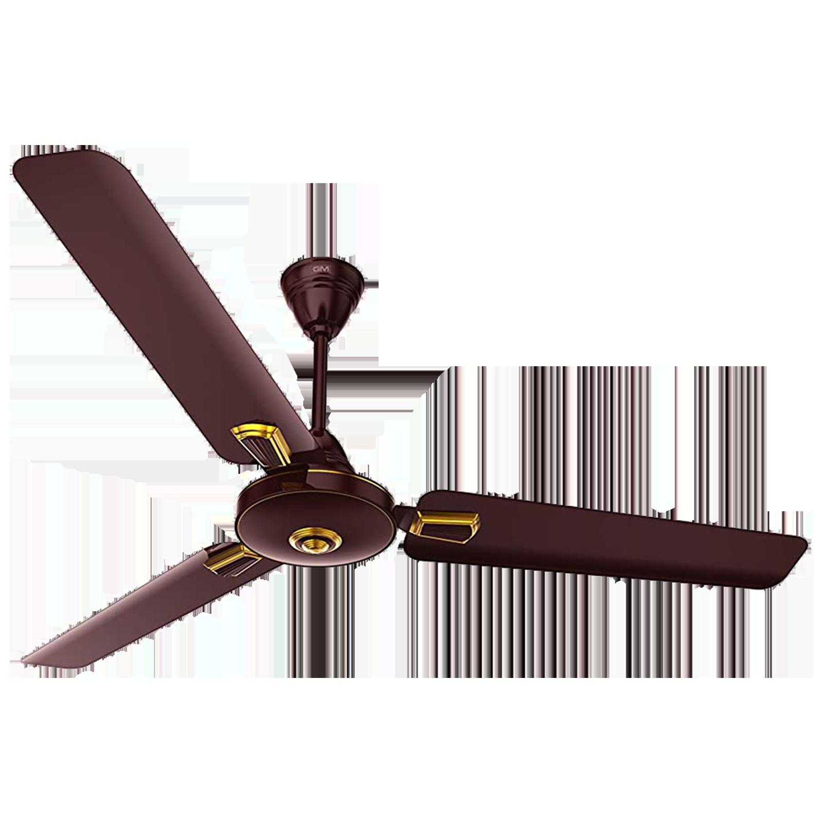GM AIR9 Plus Deco 120 cm Sweep 3 Blade Ceiling Fan (Aerodynamically Designed Blades, CFB480033BRGL, Brown)_1
