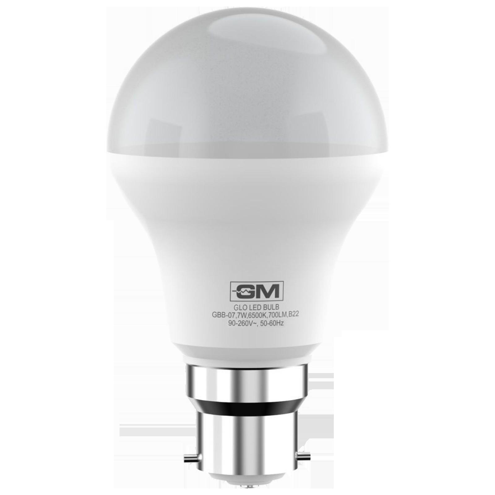 GM GLO 7 Watts Electric Powered LED Bulb (700 Lumens, GBB-07-6.5K-6500K, White)_1