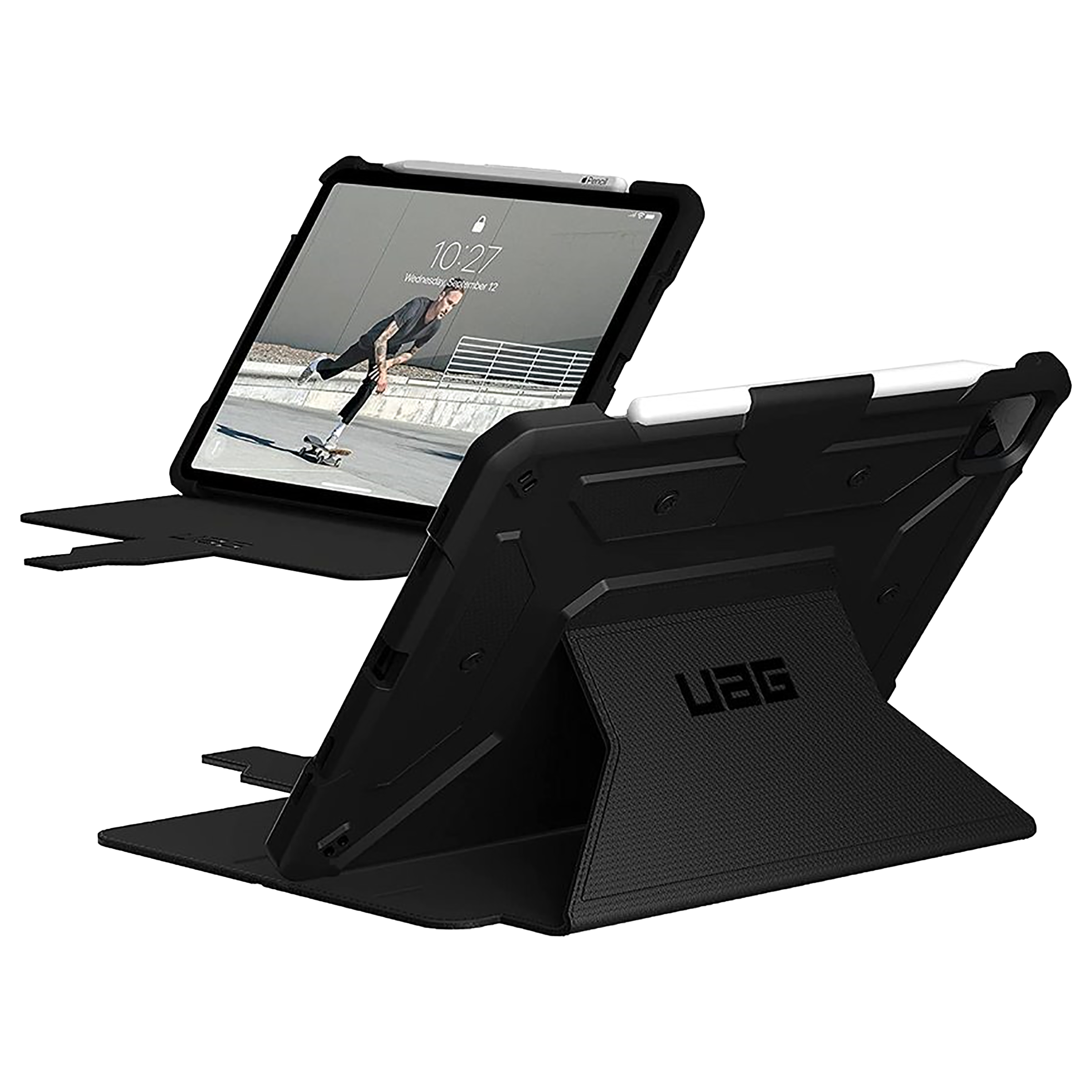 UAG Metropolis Thermoplastic Polyurethane Flip Case with Stand For Apple iPad Pro 11 Inch / iPad Air 4 (10.9 Inch) (Drop & Shock Protection, UGMP_IPD11PG3_BK, Black)_1