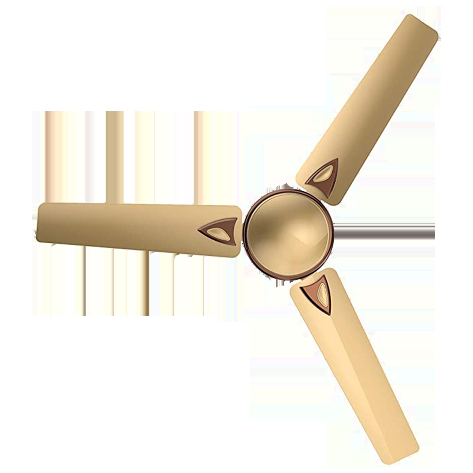 GM Nexa 120 cm Sweep 3 Blade Ceiling Fan (Aerodynamically Designed Blades, CFE480010GLMC, Gold)_1
