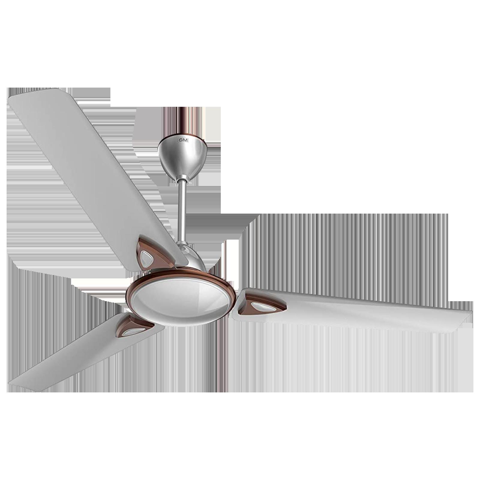 GM Nexa 120 cm Sweep 3 Blade Ceiling Fan (Aerodynamically Designed Blades, CFE480010SLMC, Silver)_1