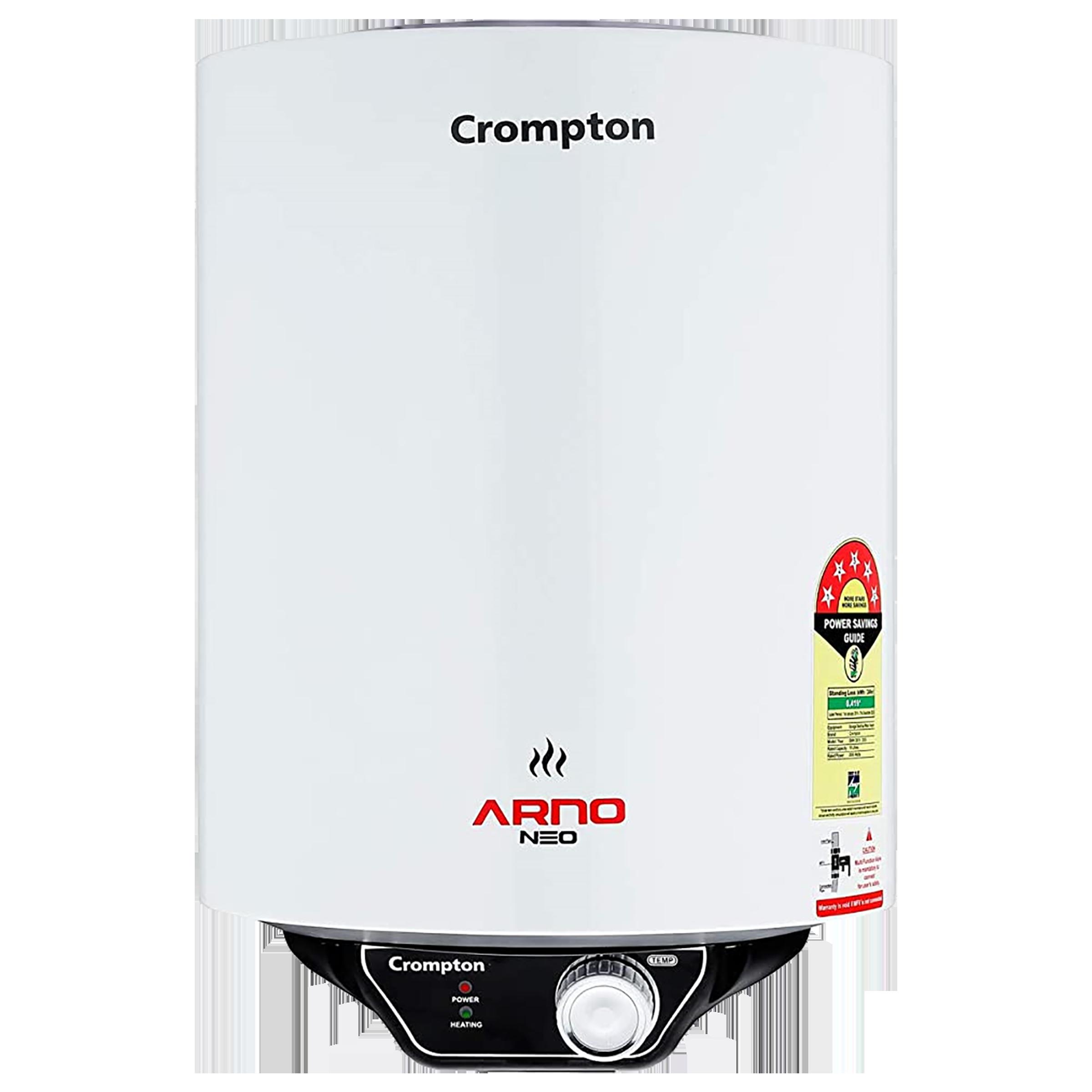 Crompton Arno Neo 25 Litres 5 Star Storage Water Geyser (2000 Watts, ASWH-3025, White)_1