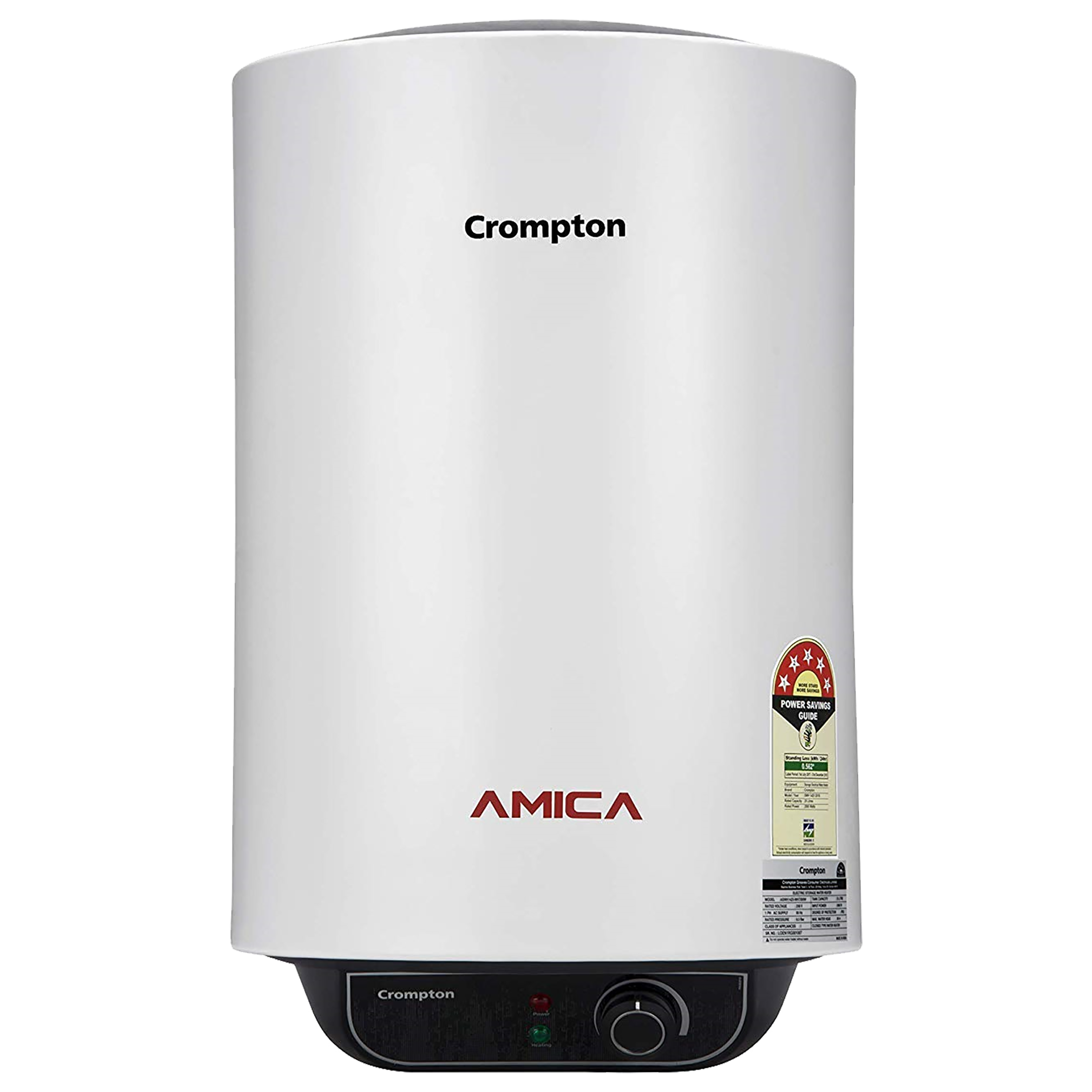 Crompton Amica 10 Litres 5 Star Storage Water Geyser (2000 Watts, ASWH-2010, White)_1
