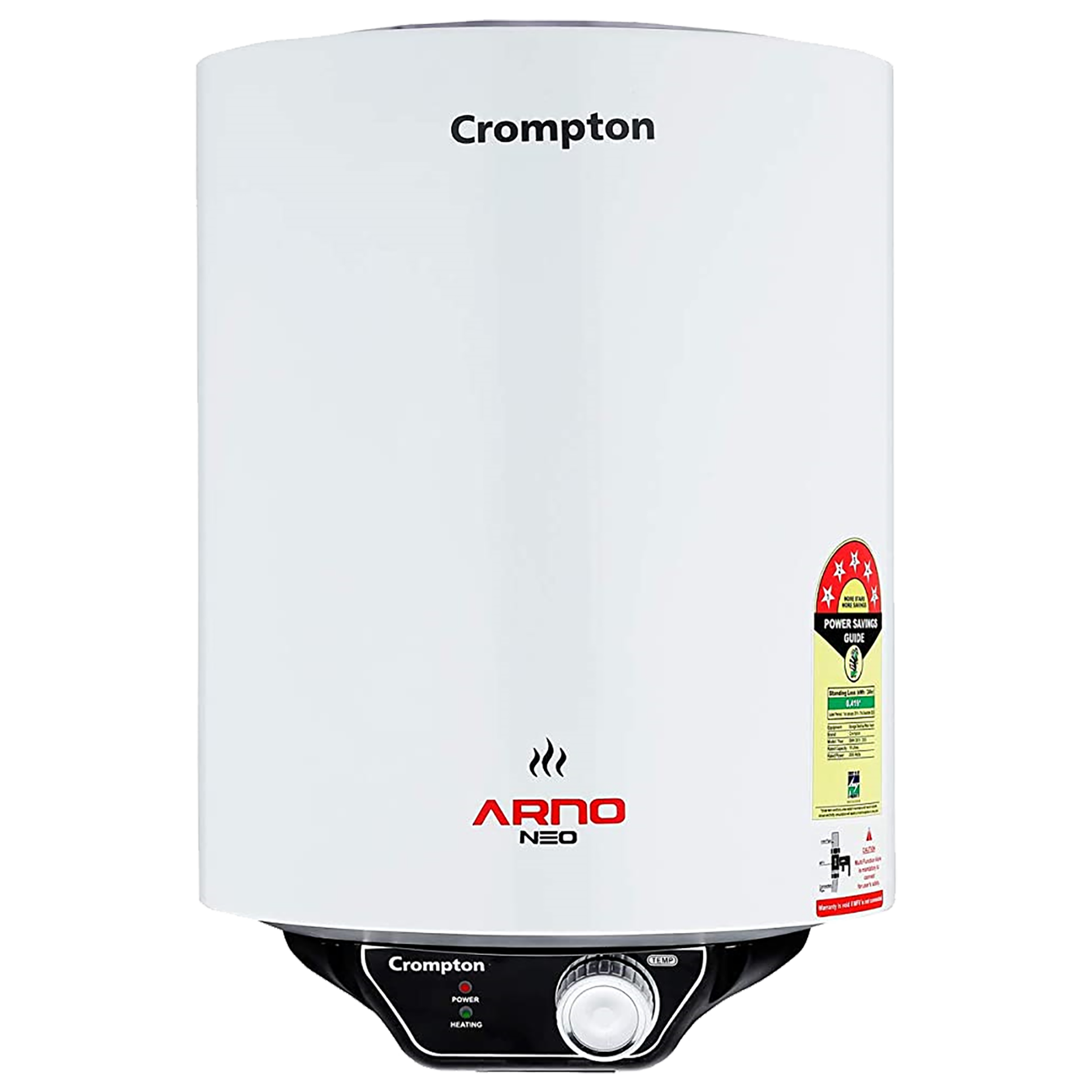 Crompton Arno Neo 15 Litres 5 Star Storage Water Geyser (2000 Watts, ASWH-3015, White)_1