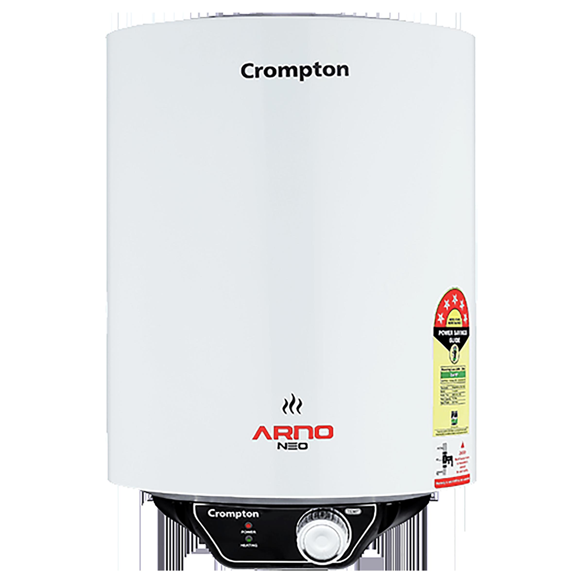 Crompton Arno Neo 6 Litres 5 Star Storage Water Geyser (2000 Watts, ASWH-3006, White)_1