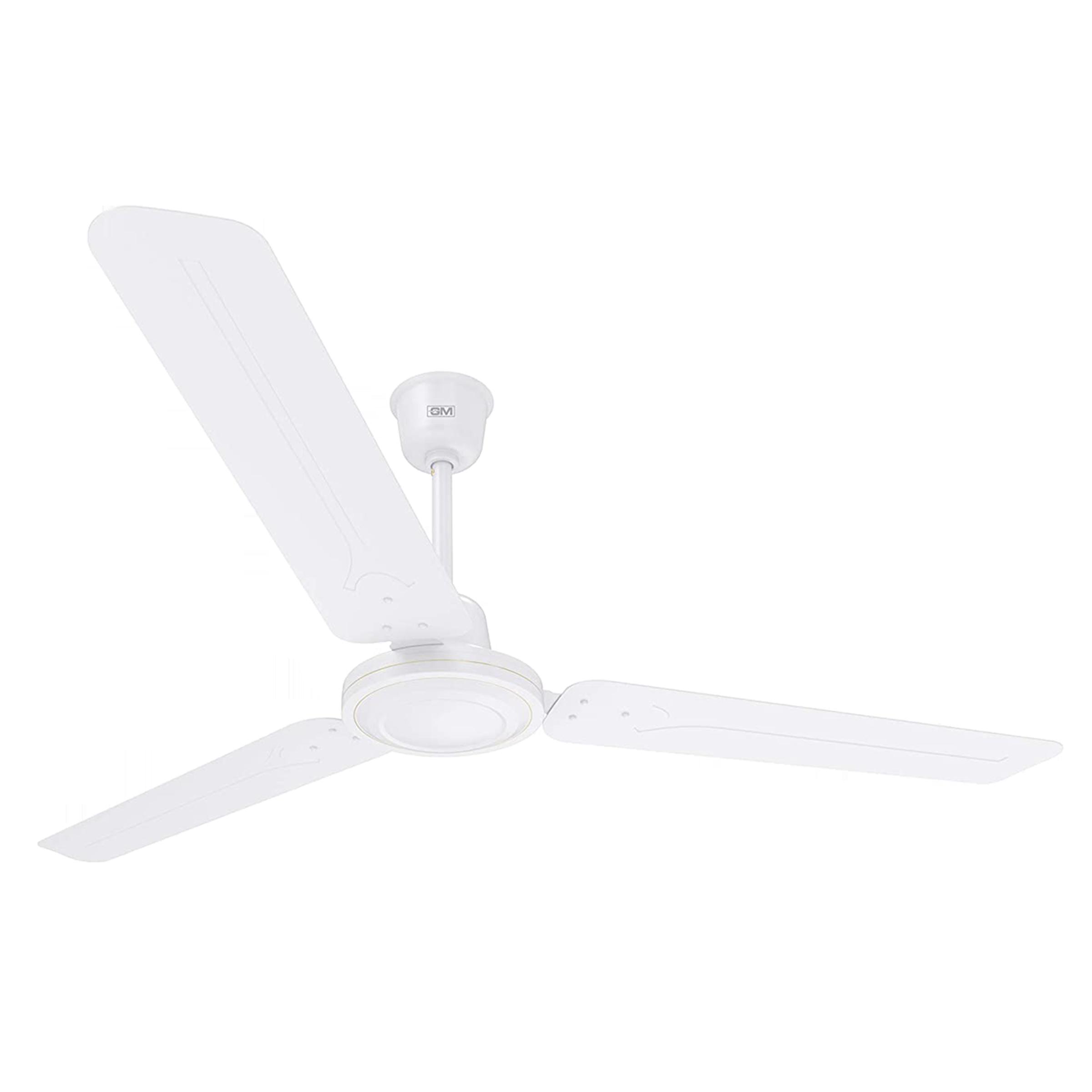 GM Breeze 120 cm Sweep 3 Blade Ceiling Fan (Energy Efficient, CFB480008WHGL, White)_1