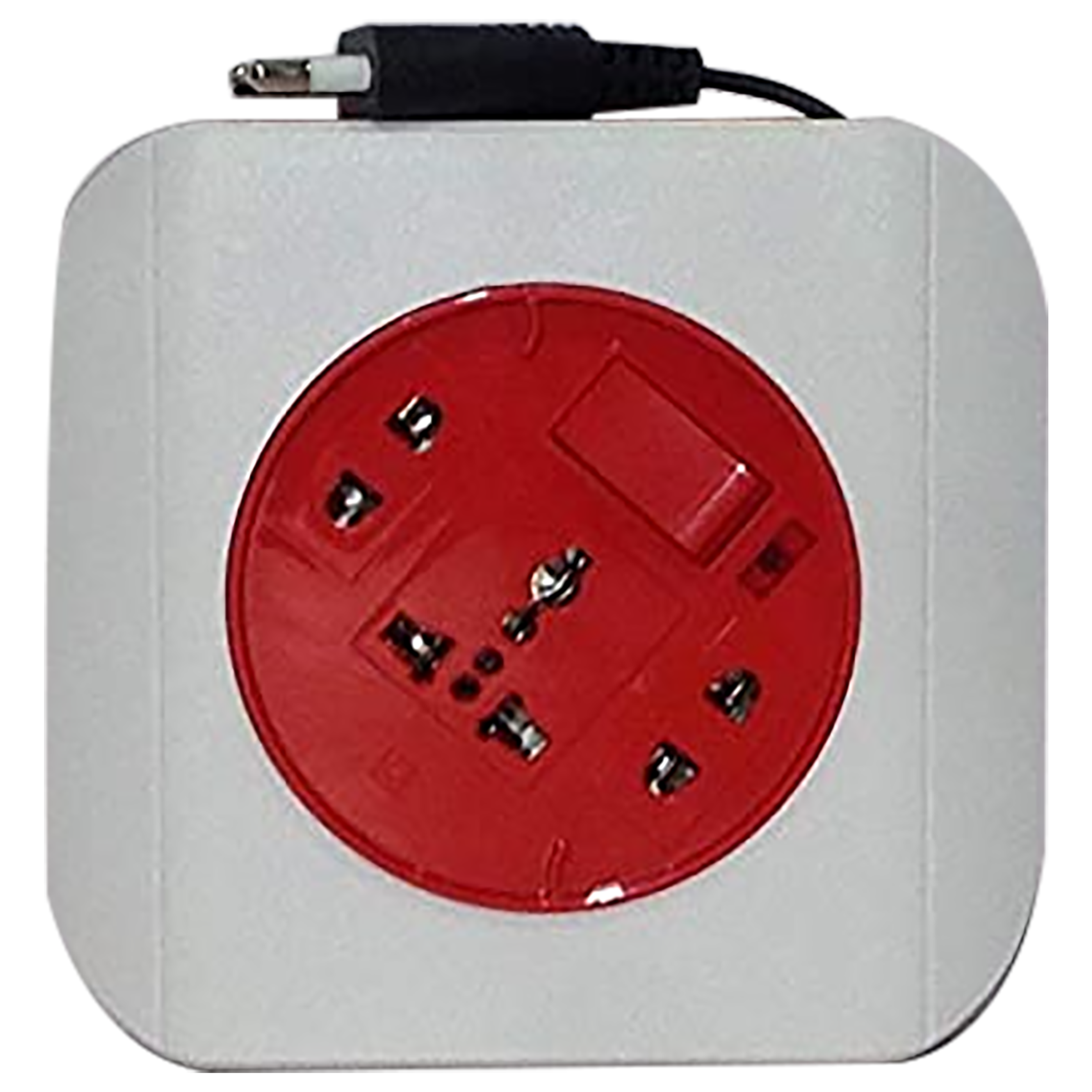 Goldmedal Dazzle 6 Amp 3 Sockets Extension Board 5 Meters (High Grade Fire Retardant Plastic, 205120, White/Red)_1