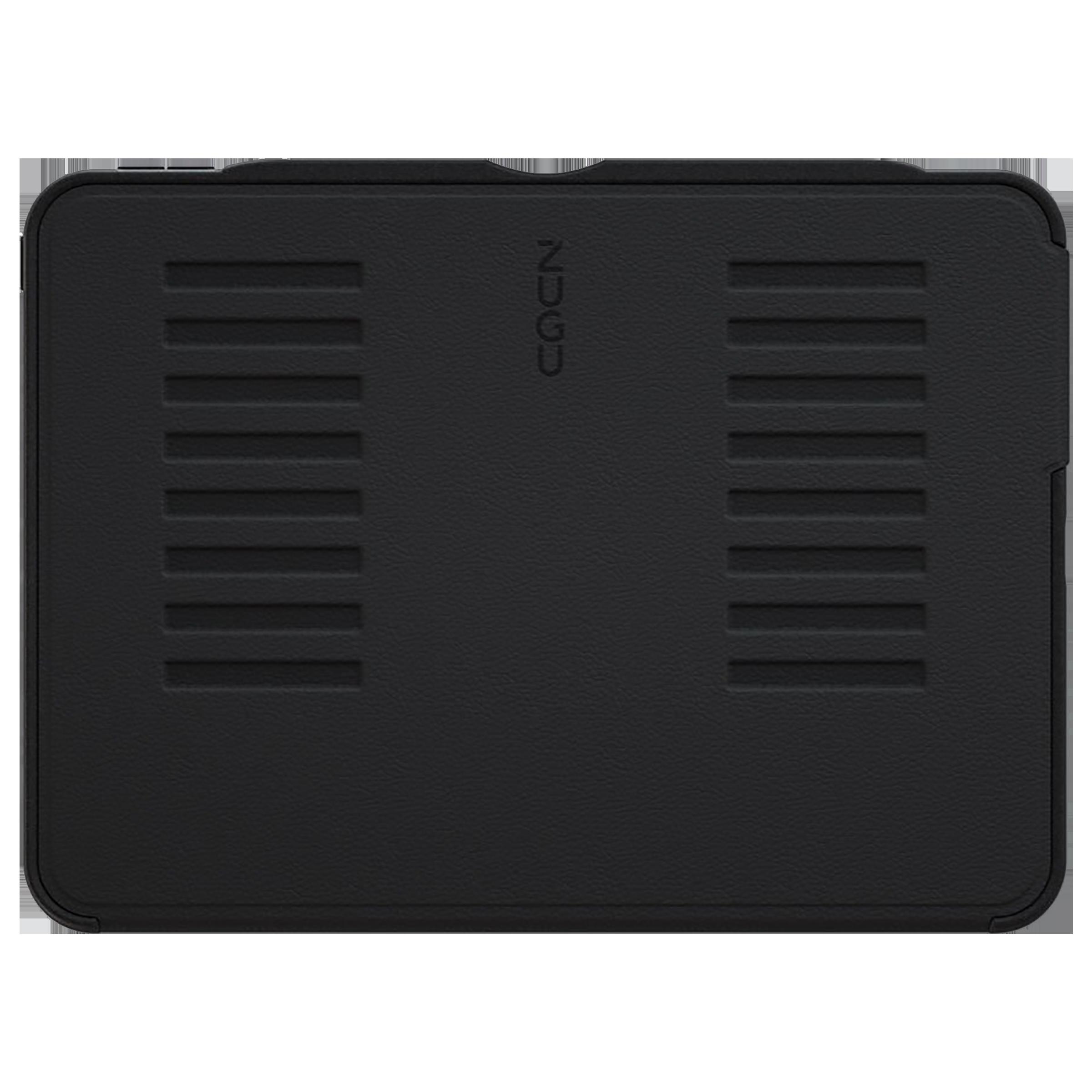 Zugu Microfiber Flip Case with Stand For Apple iPad Pro 12.9 Inch (Robust Bumper & Rugged TPU, ZG-21-129BLK, Black)_1