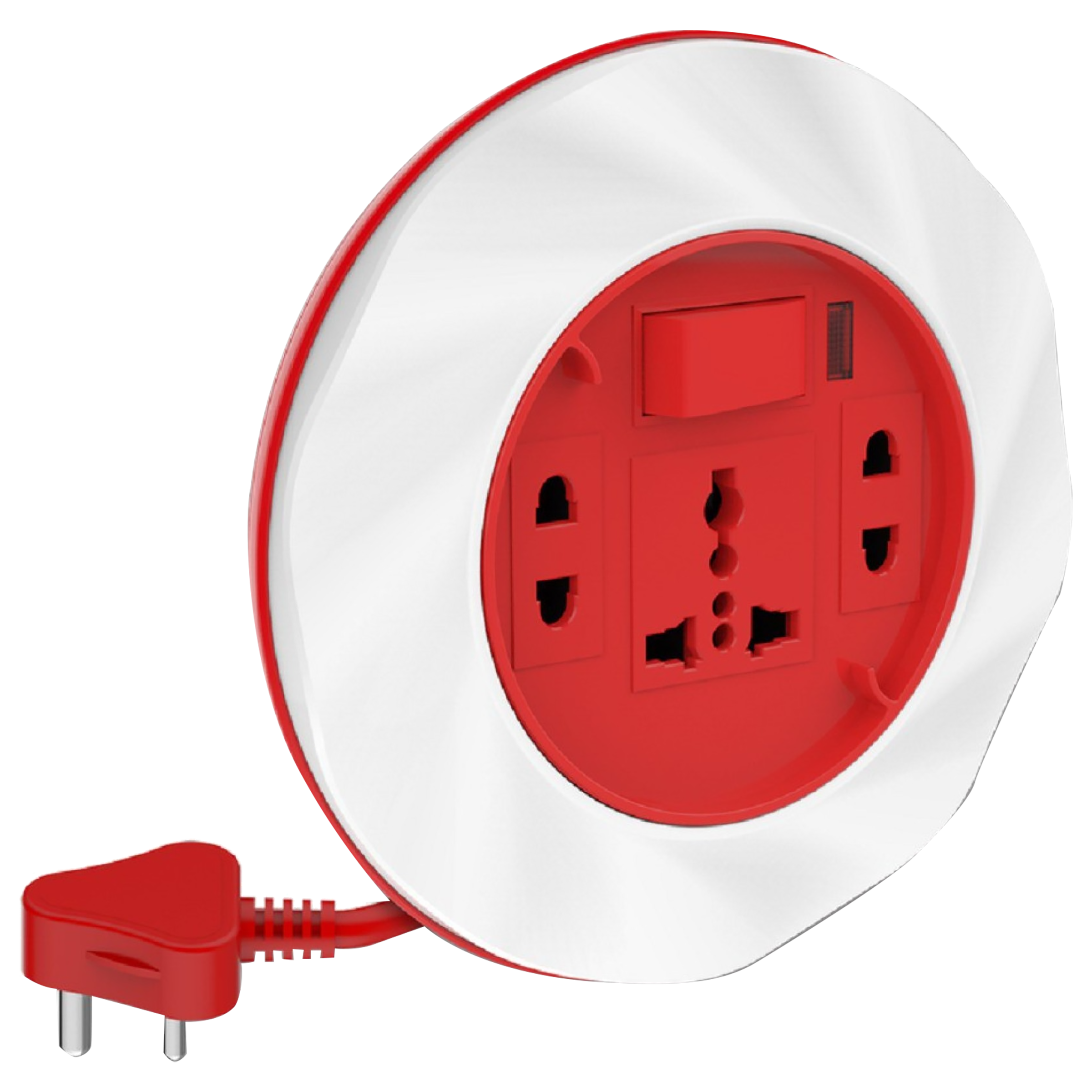 Goldmedal Twister 10 Amp 3 Sockets Extension Board  (4 Meters, High Grade Fire Retardant Plastic, 205123, White/Red)_1