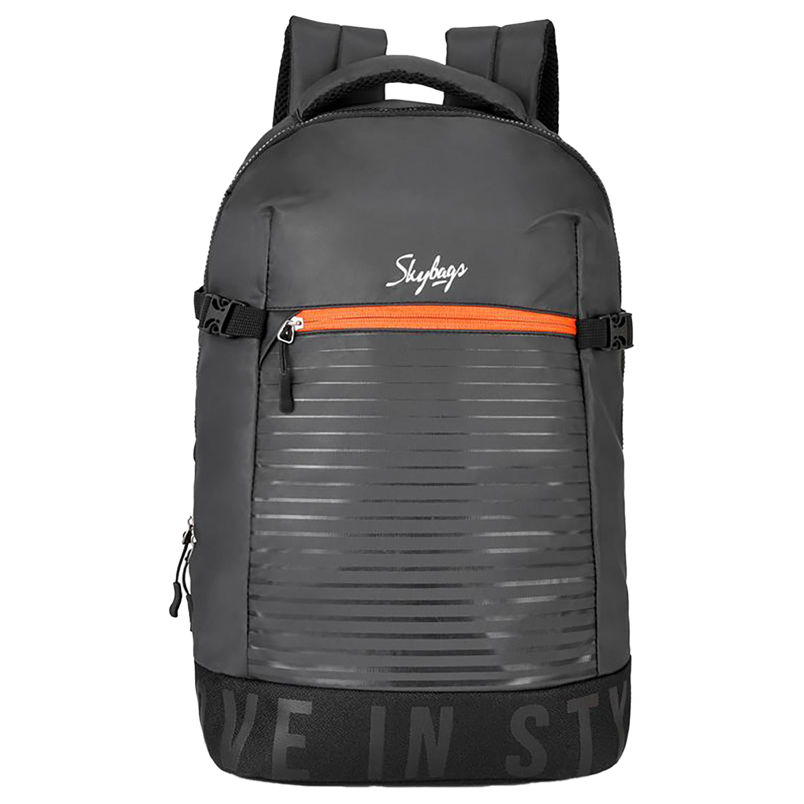 Sky Bags Boho 01 23 Litres Thermoplastic Elastomers Backpack (Rain Cover, BPBOH1RBLK, Black)_1
