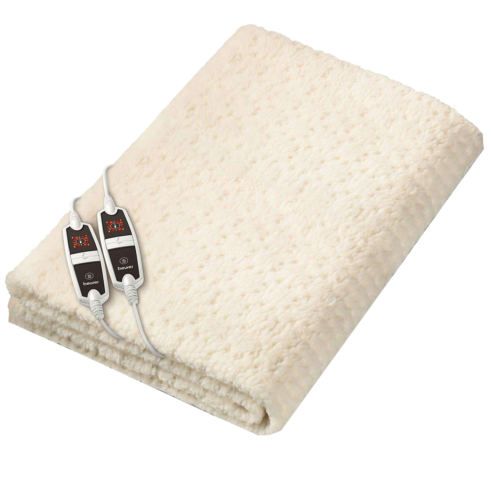 Beurer UB 56 Teddy Double Heated Underblanket (Beurer Safety System, Off-White)_1