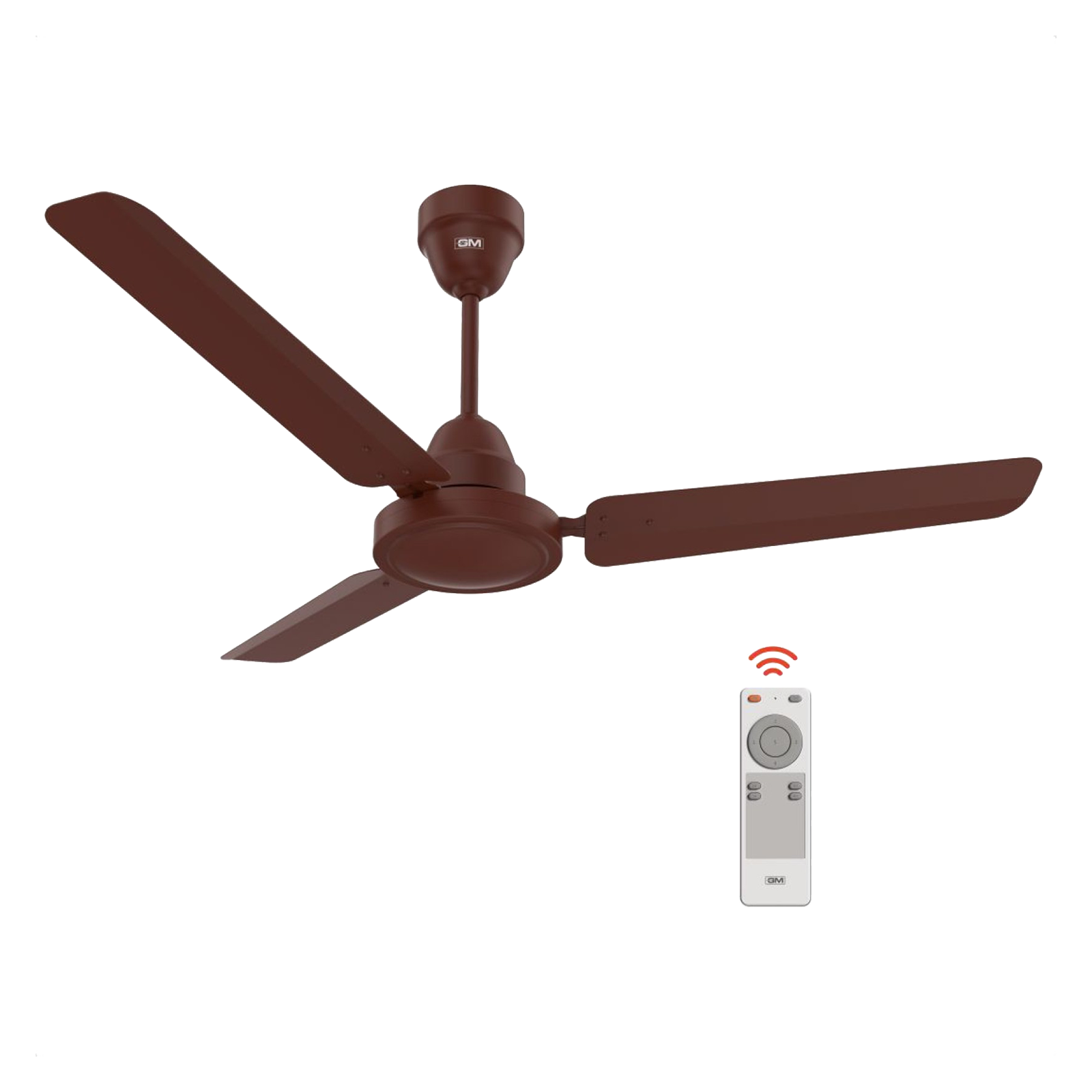 GM Excel 120 cm Sweep 3 Blade Ceiling Fan (Remote Control, CFB480048BRMT, Brown)_1