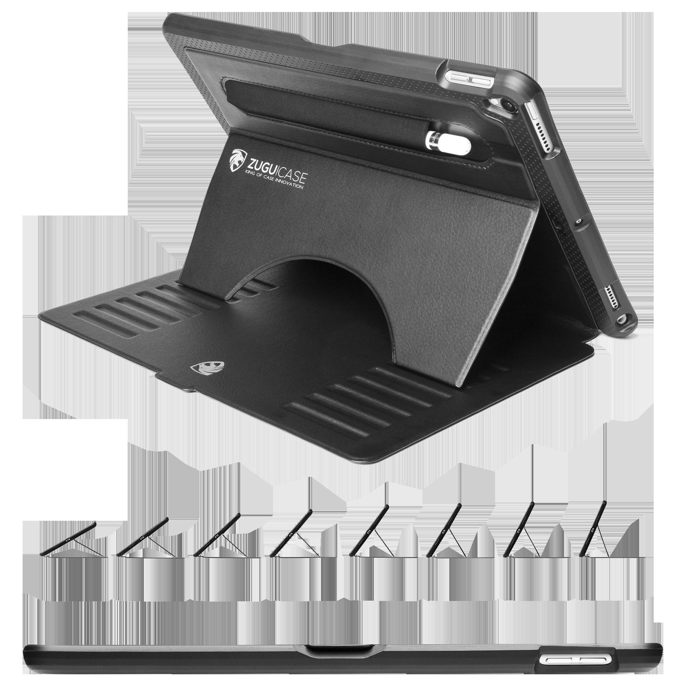 Zugu Microfiber Flip Case with Stand For Apple iPad Air / iPad Pro 10.5 Inch (Robust Bumper & Rugged TPU, ZG-PX-105BLK, Black)_1