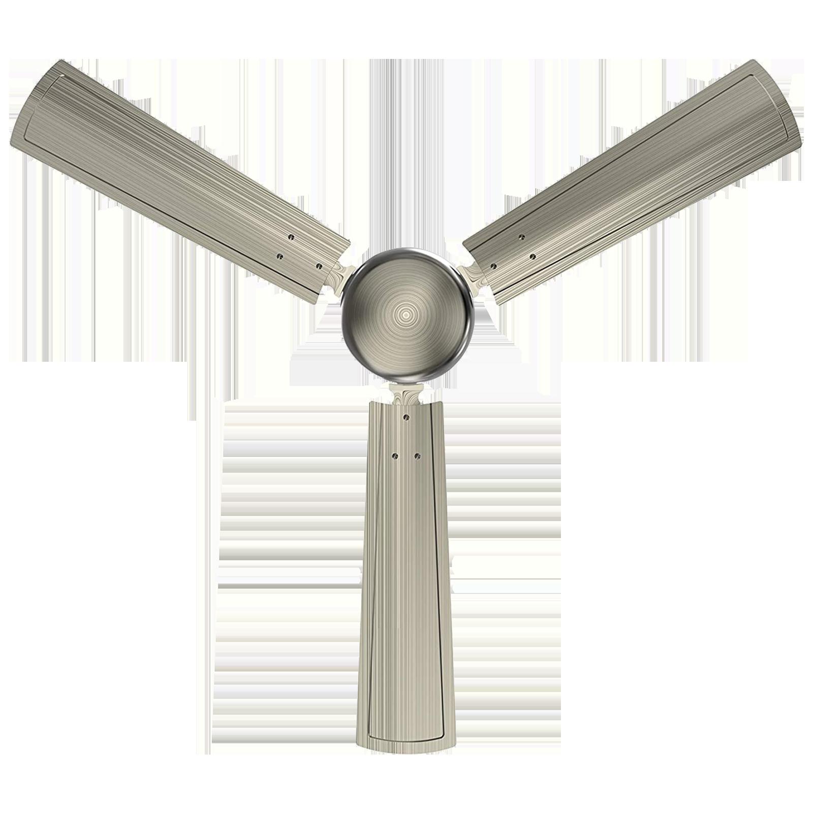 GM Spencer 120 cm Sweep 3 Blade Ceiling Fan (Aerodynamically Designed Blades, CFP480012BAEP, Silver)_1