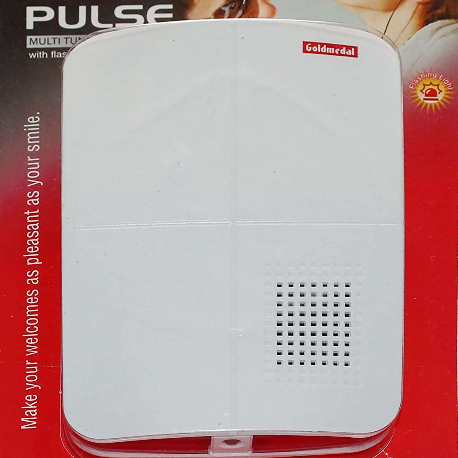 Goldmedal Pulse Door Bell (Multitune, 204072, White)_1