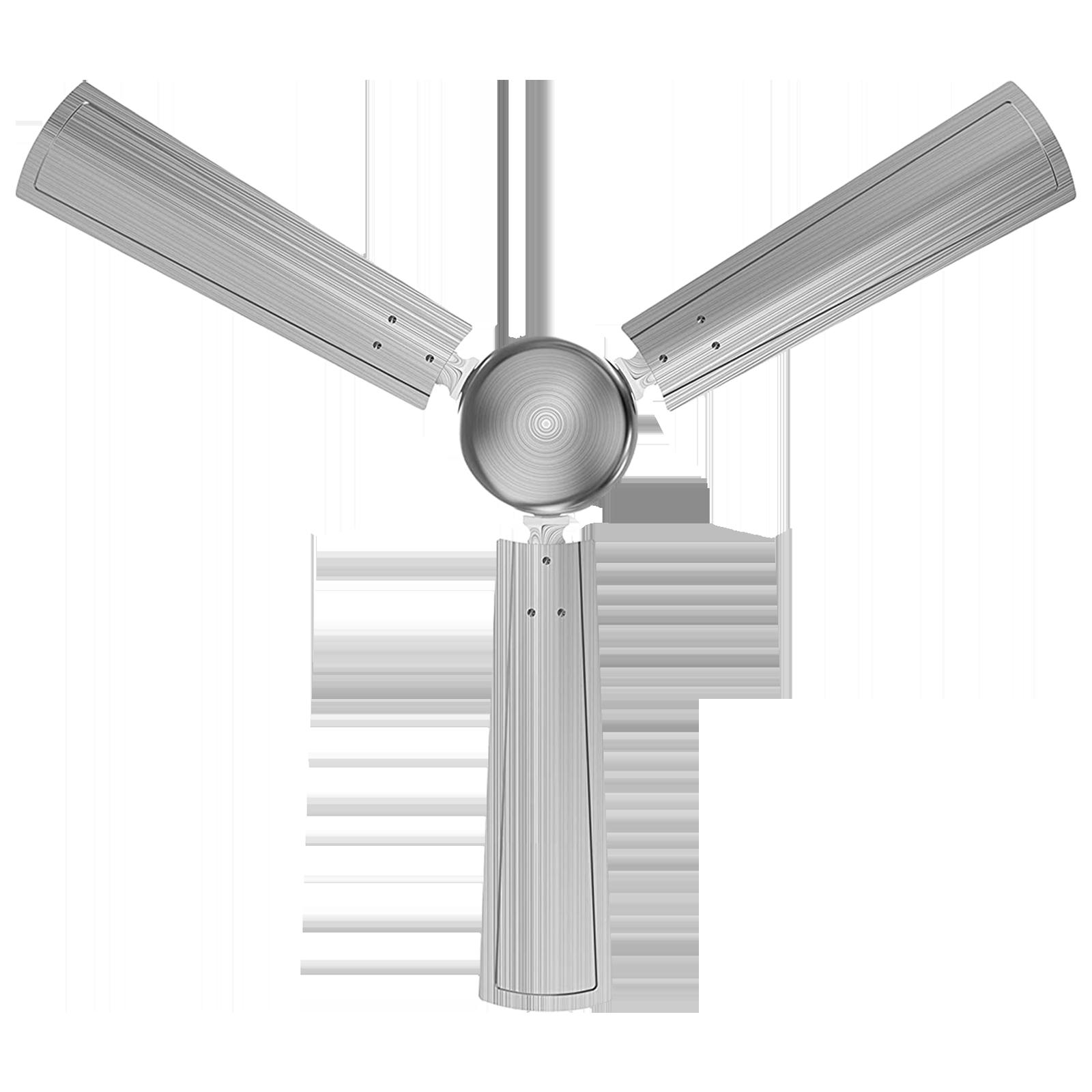 GM Spencer 120 cm Sweep 3 Blade Ceiling Fan (Aerodynamically Designed Blades, CFP480012BSEP, Silver)_1