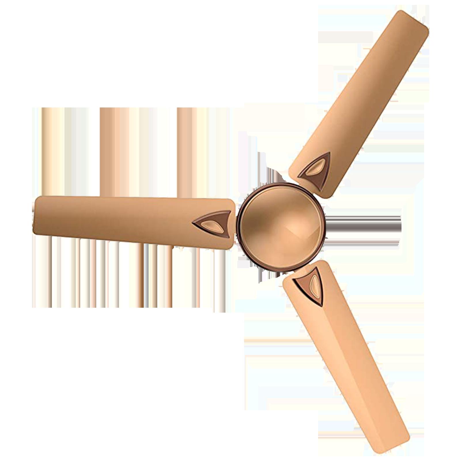 GM Nexa 120 cm Sweep 3 Blade Ceiling Fan (Aerodynamically Designed Blades, CFE480010RGMC, Gold)_1