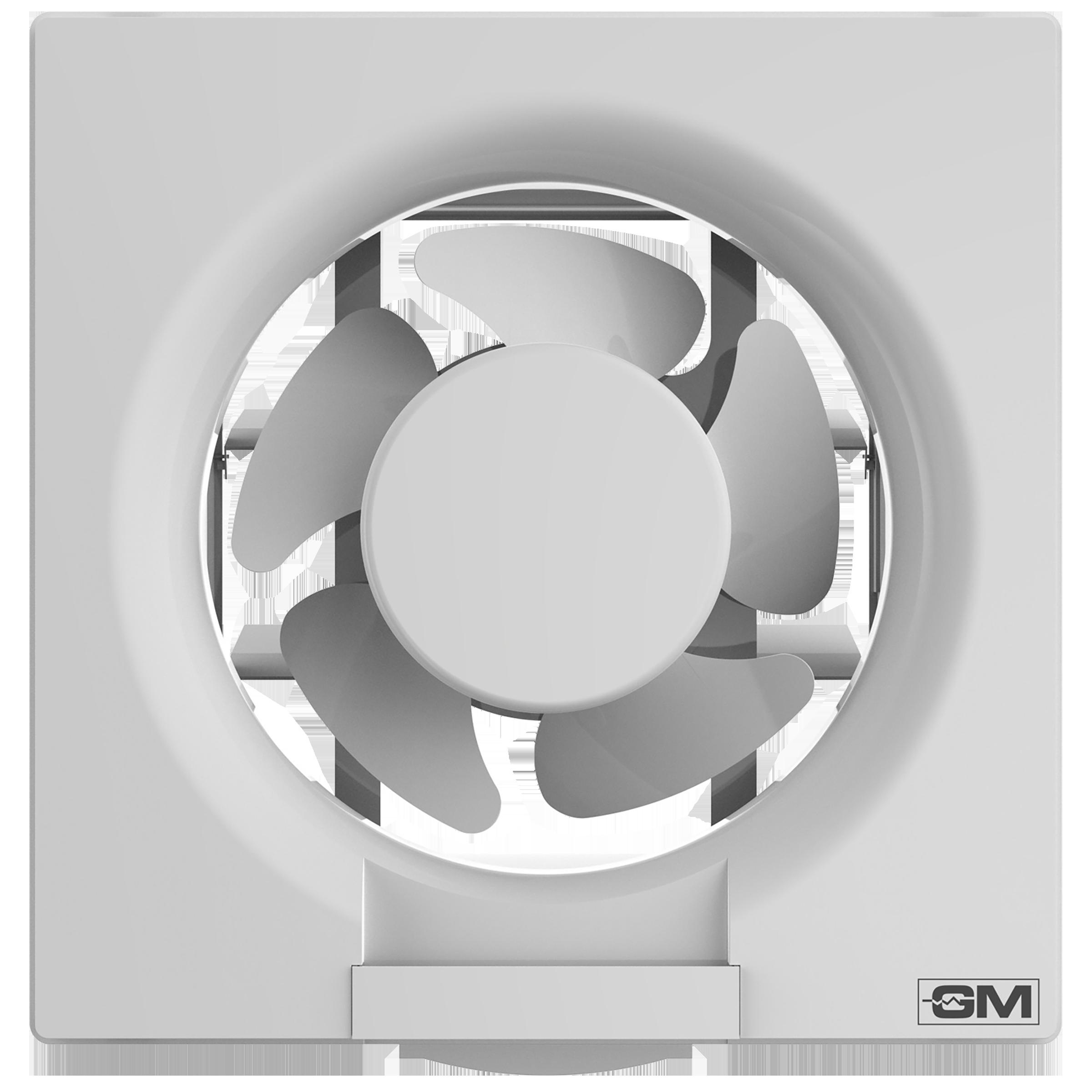 GM Eco Air 20 cm Sweep Exhaust Fan (Noiseless Fan, VFB080014WHGL, White)_1