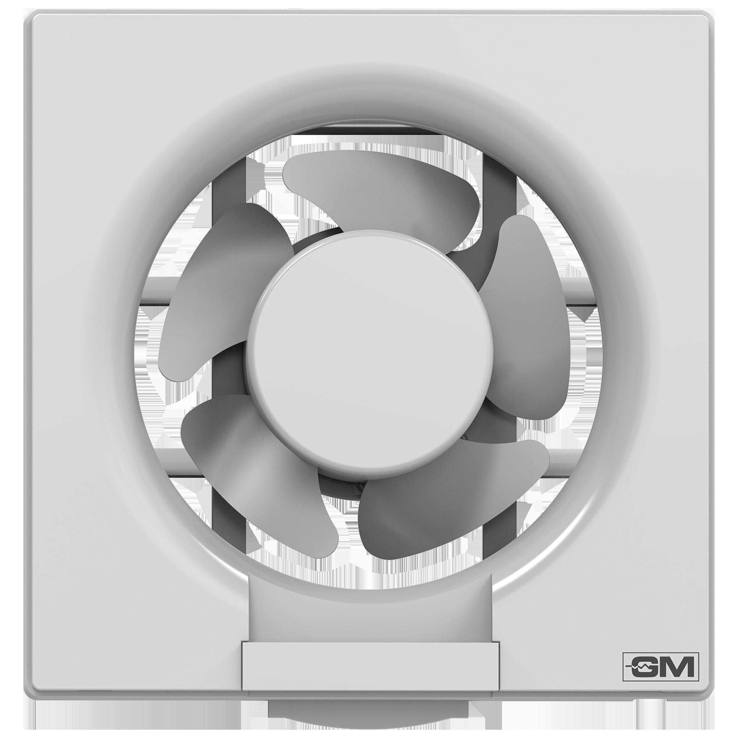 GM Eco Air 25 cm Sweep Exhaust Fan (Noiseless Fan, VFB100014WHGL, White)_1