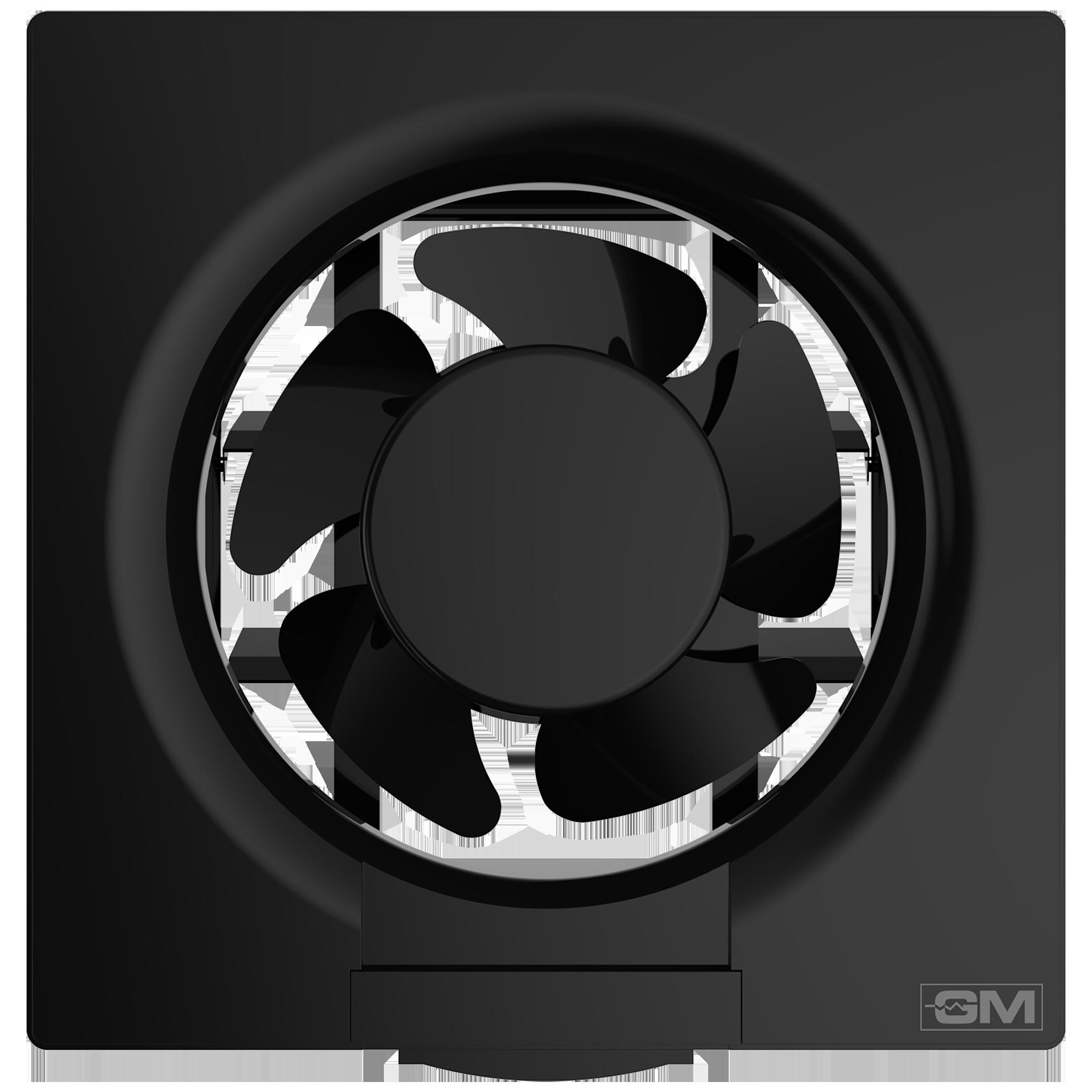 GM Eco Air 20 cm Sweep Exhaust Fan (Noiseless Fan, VFB080014BKGL, Black)_1