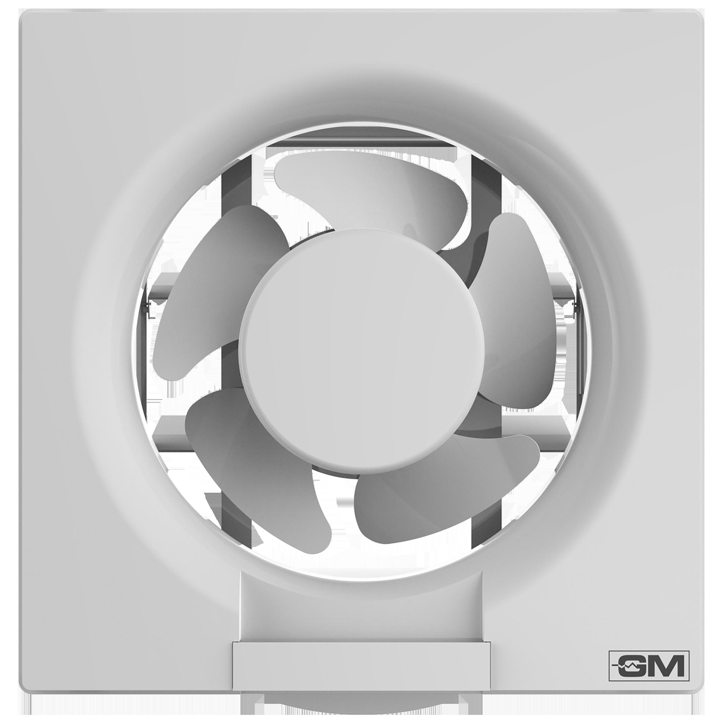 GM Eco Air 15 cm Sweep Exhaust Fan (Noiseless Fan, VFB060014WHGL, White)_1