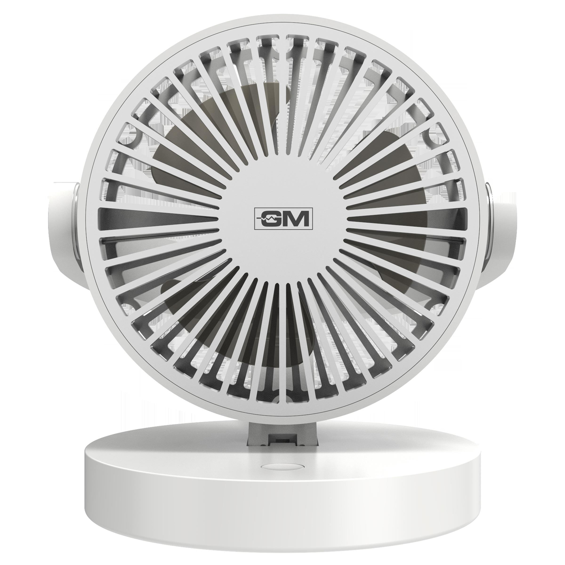 GM Handy Air 15 Sweep 3 Blade Table Fan (Noiseless Fan, PEIO60049WHGL, White)_1