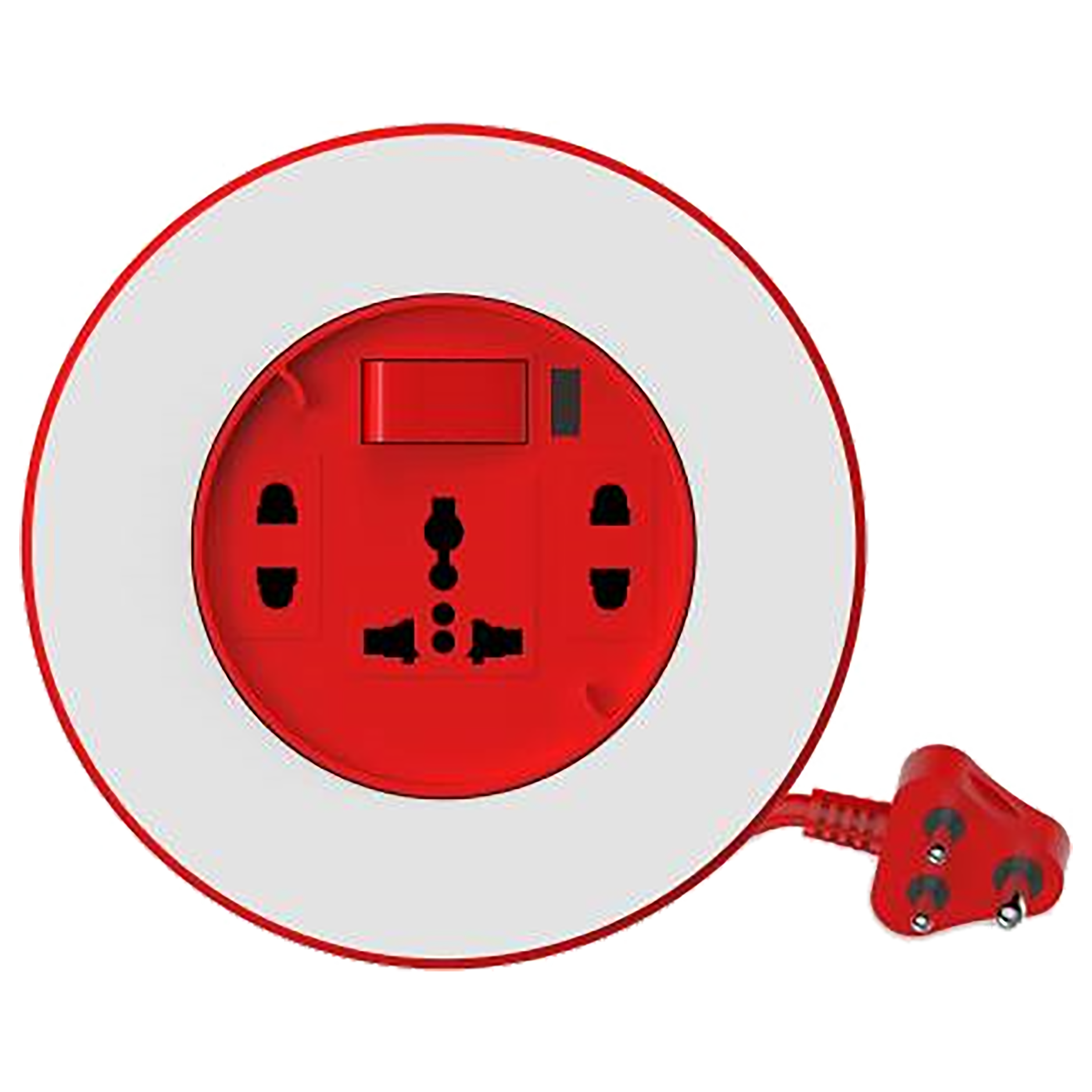 Goldmedal Plano 6 Amp 3 Sockets Extension Board ( 4 Meters, High Grade Fire Retardant Plastic, 205139, White/Red)_1
