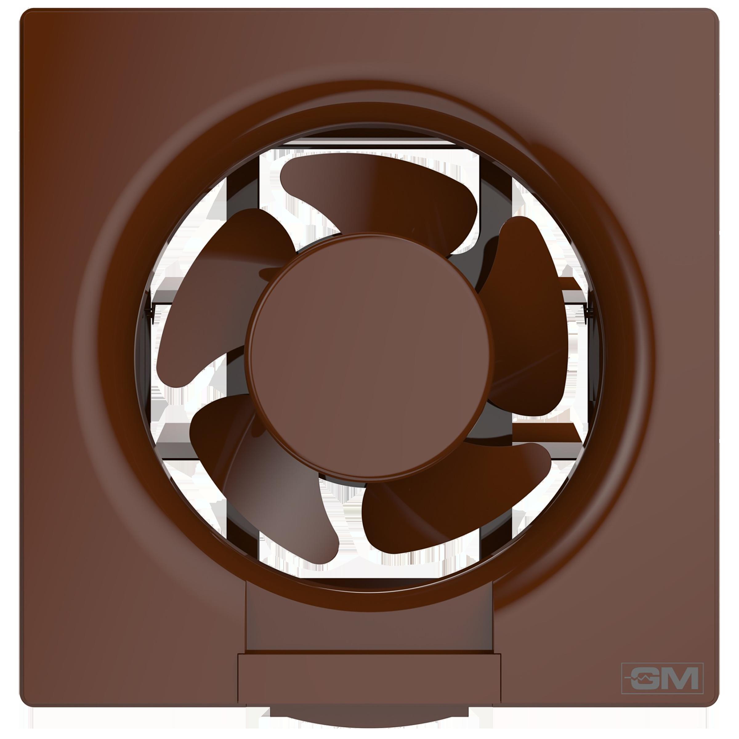 GM Eco Air 15 cm Sweep Exhaust Fan (Noiseless Fan, VFB060014BRGL, Brown)_1