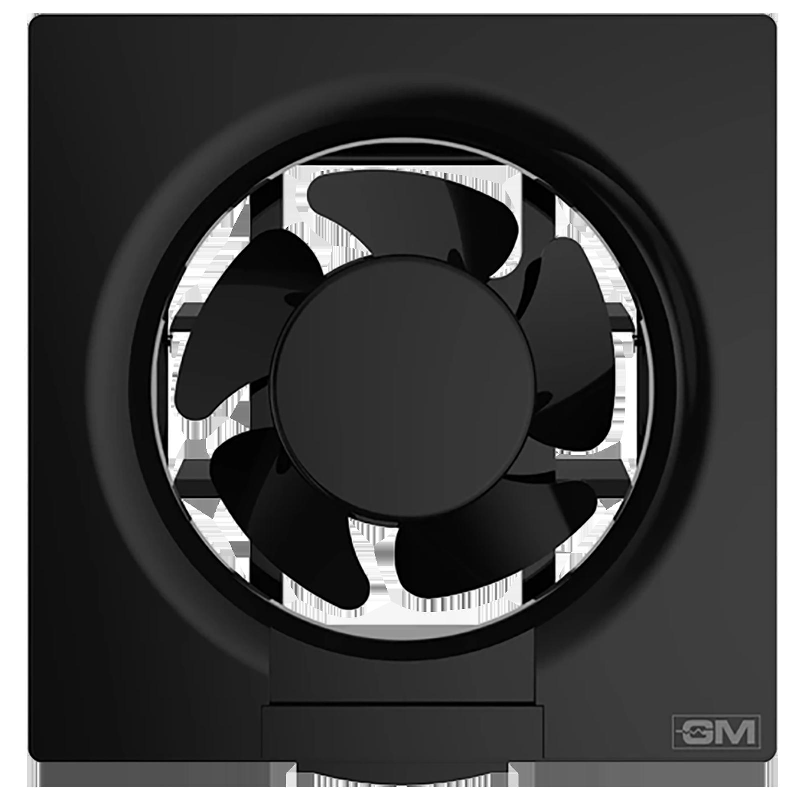GM Eco Air 15 cm Sweep Exhaust Fan (Noiseless Fan, VFB060014BKGL, Black)_1