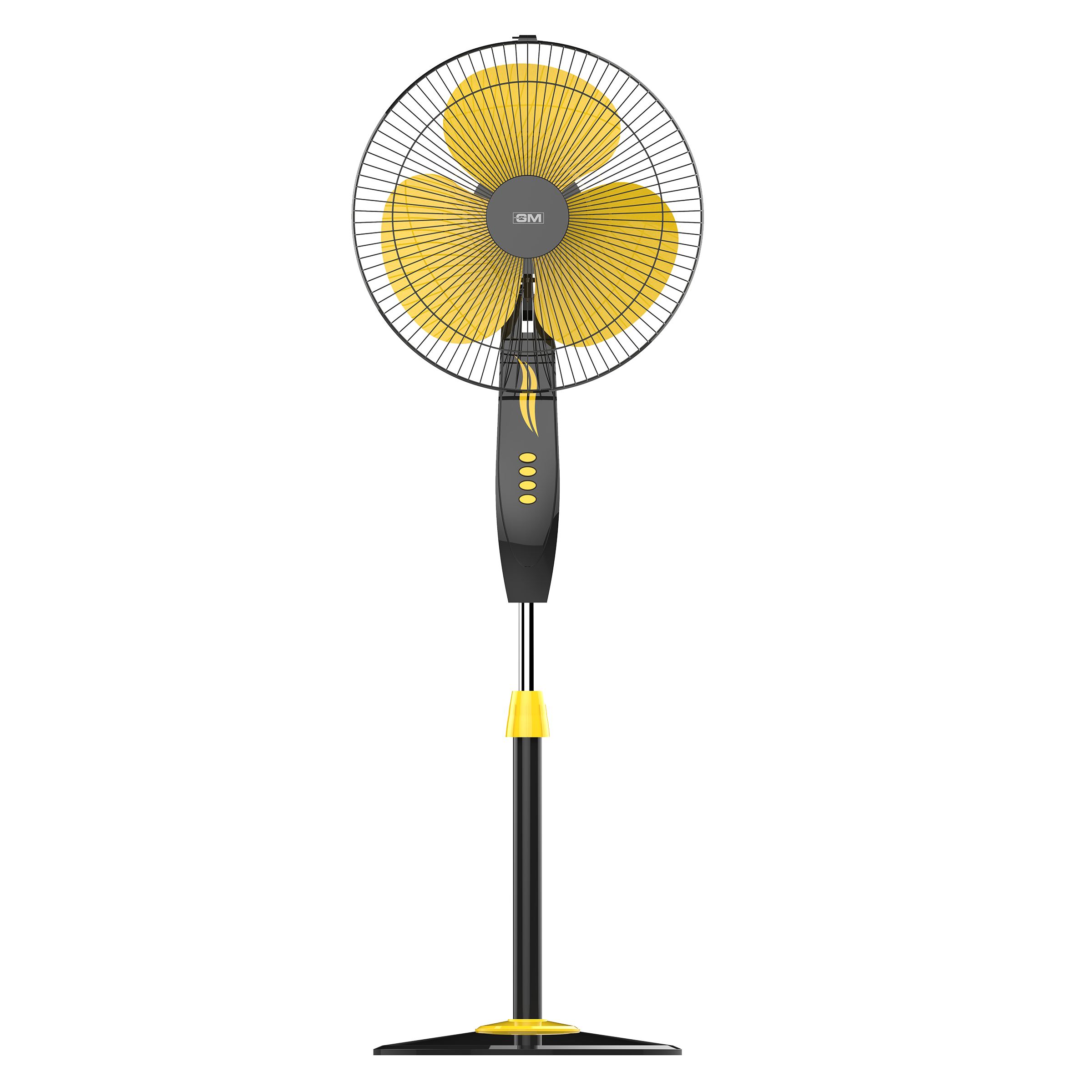GM Livo Plus 40 cm Sweep 3 Blade Pedestal Fan (Noiseless Fan, PFB160025YLGL, Yellow)_1