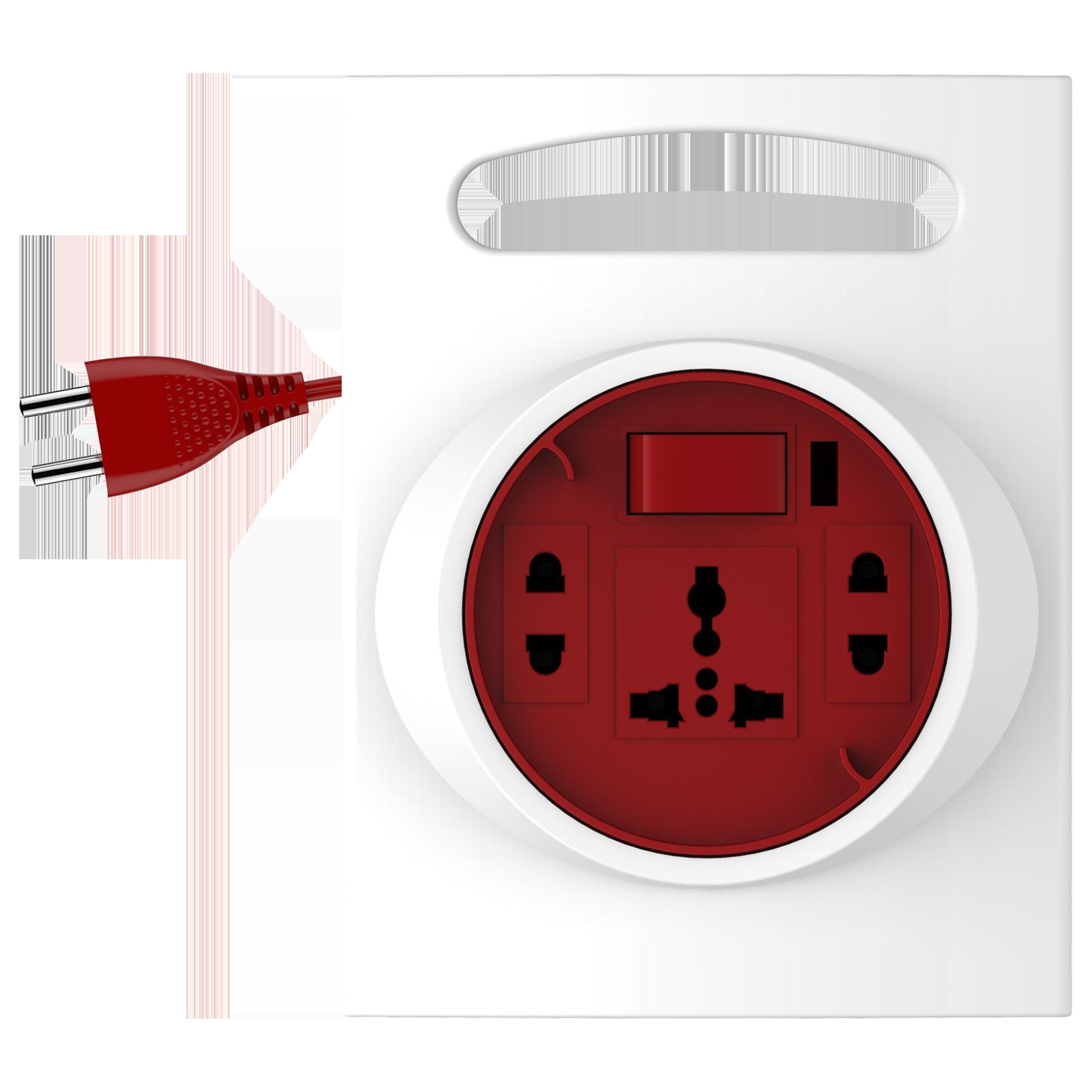 Goldmedal G-Expert 10 Amp 3 Sockets Extension Board  (5 Meters, Indicator & International Socket, 205126, White/Red)_1