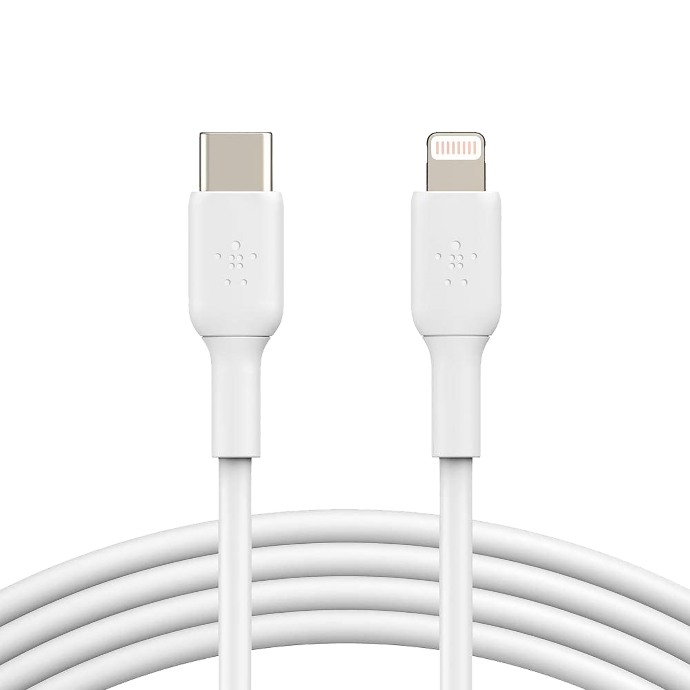 Belkin Boost Charge PVC 1 Meter USB 2.0 (Type-C) to Lightning Power/Charging USB Cable (MFi Certified, CAA003bt1MWH, White)_1