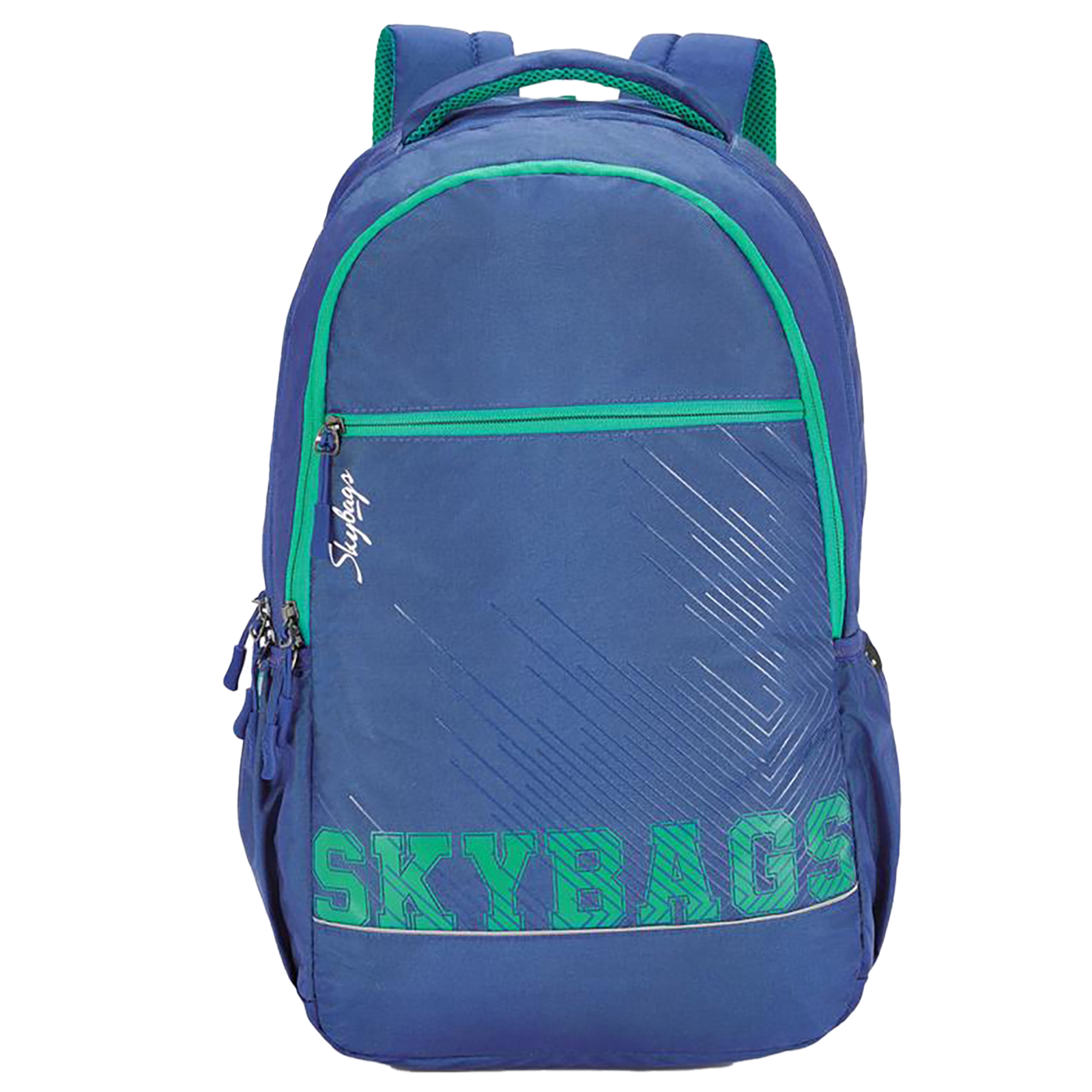 Sky Bags Campus Plus 01 30 Litres Gucci Fabric Backpack for 17 Inch Laptop (Water Resistant, LPBPCAP1BLU, Blue)_1