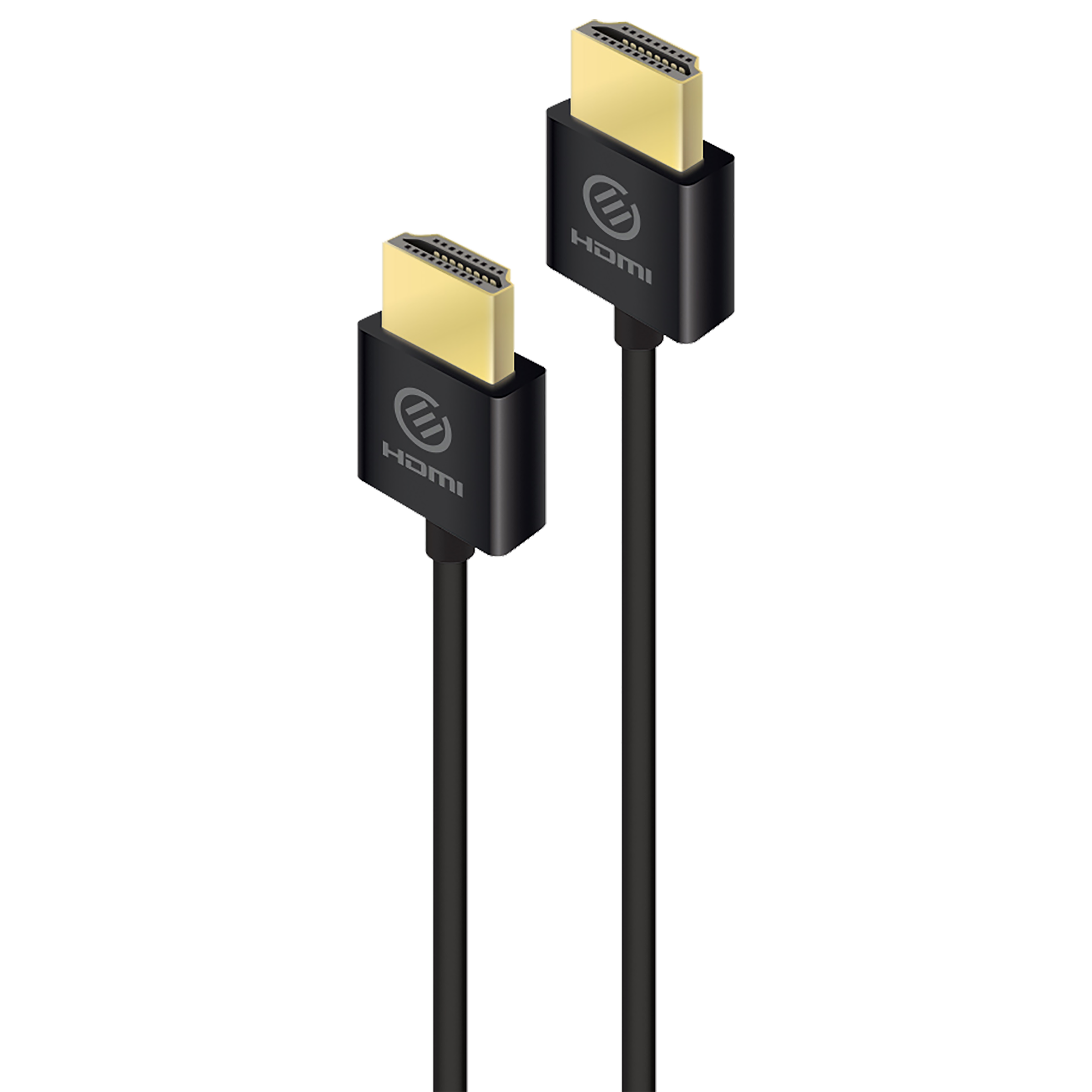 Alogic Air Series 2 Meter HDMI (Type-A) to HDMI (Type-A) Audio & Video HDMI Cable (24K Gold Plated Contacts, HDAS-V202, Black)_1