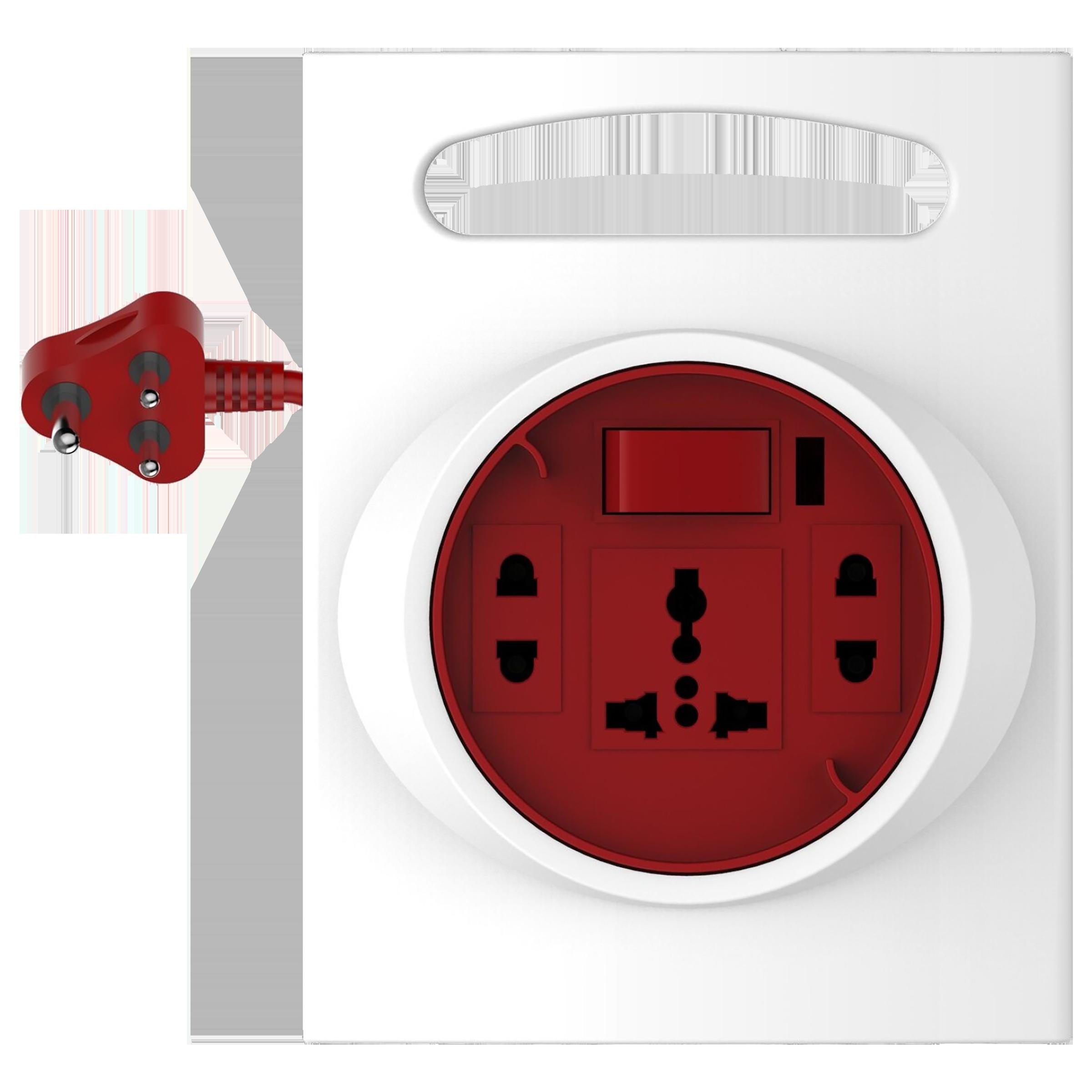 Goldmedal G-Expert 10 Amp 3 Sockets Extension Board ( 4 Meters, High Grade Fire Retardant Plastic, 205127, White/Red)_1