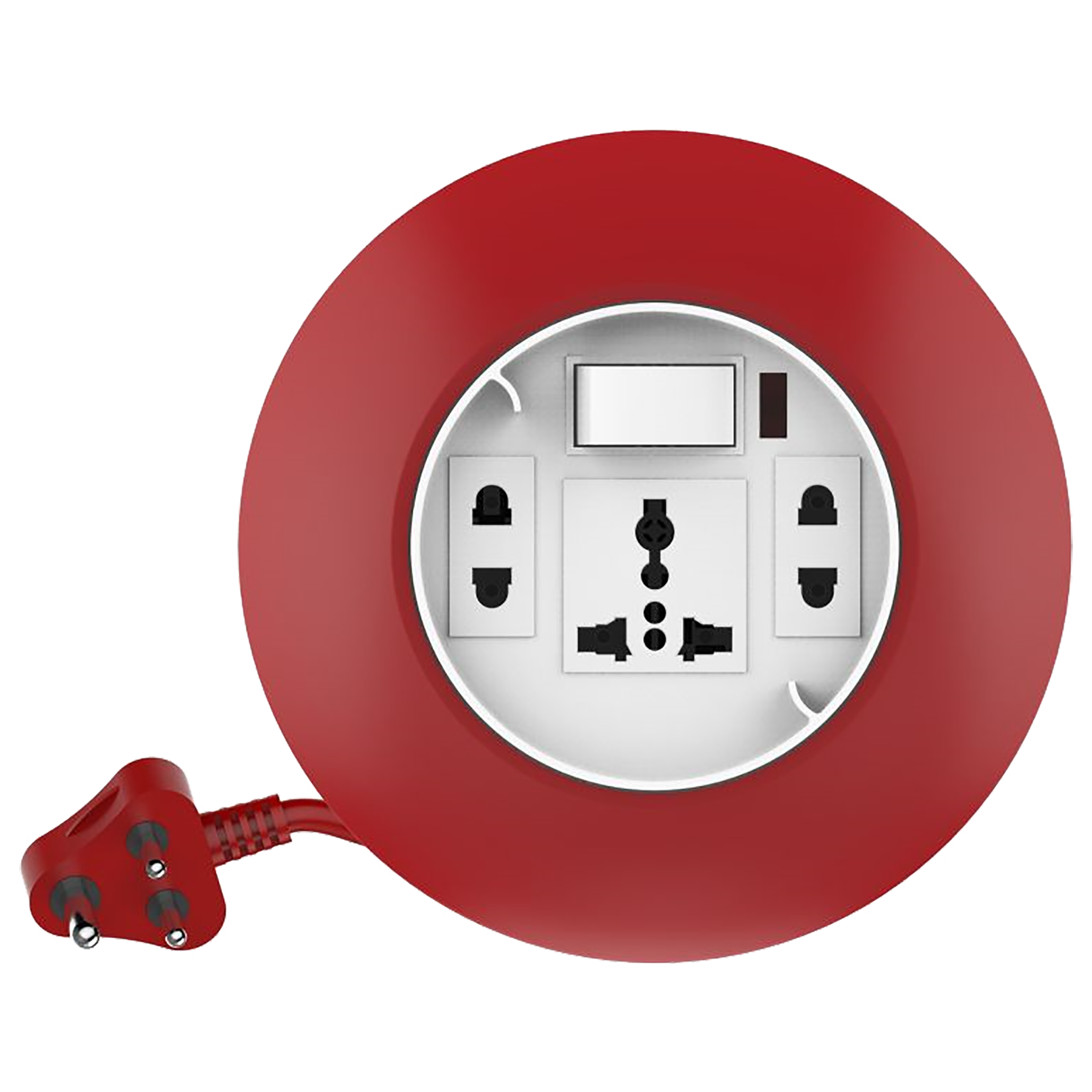 Goldmedal G-Dial 6 Amp 3 Sockets Extension Board  (4 Meters, LED Indicator, 205129, White/Red)_1
