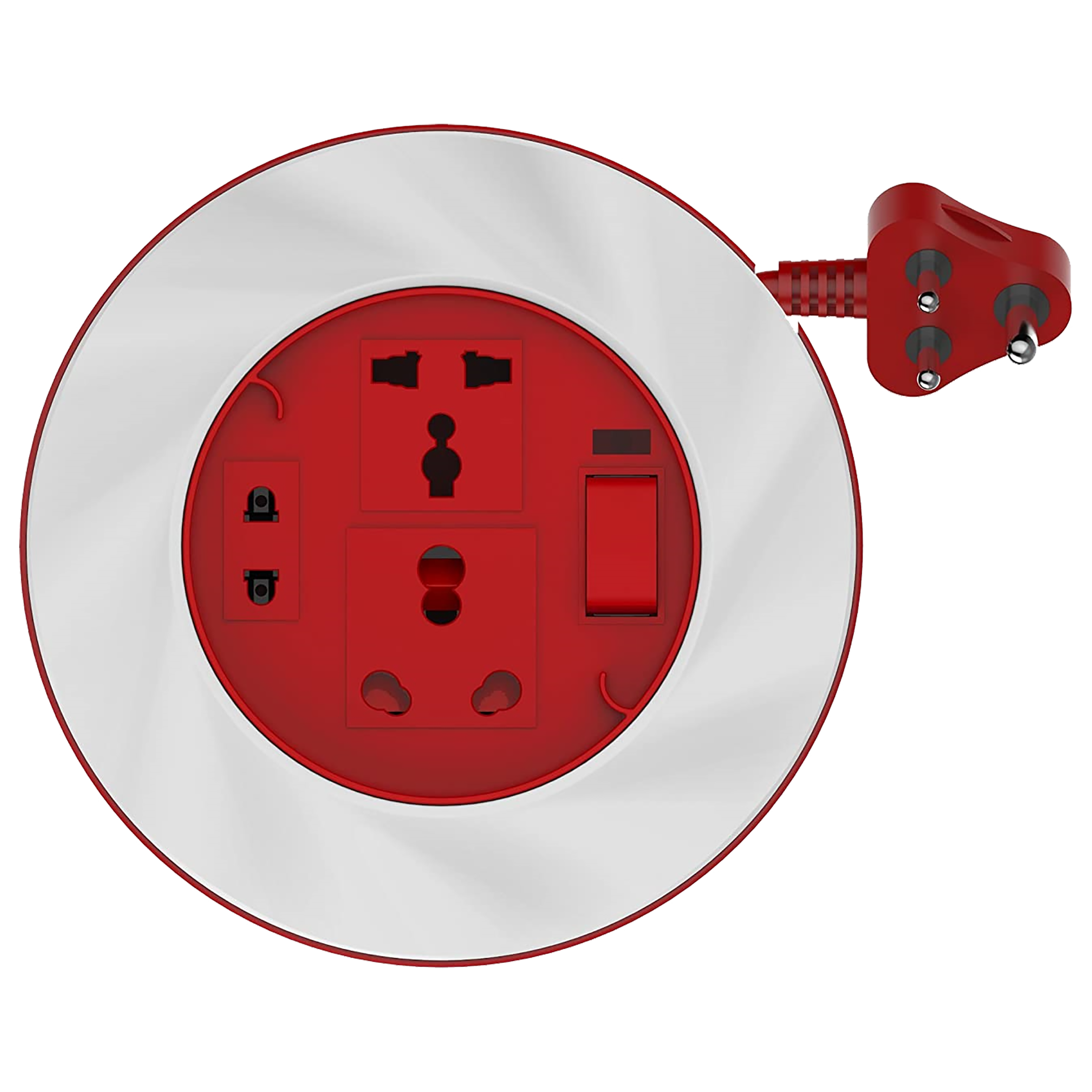 Goldmedal Twister 16 Amp 3 Sockets Extension Board ( 3.5 Meters, International Sockets, 205131, White/Red)_1
