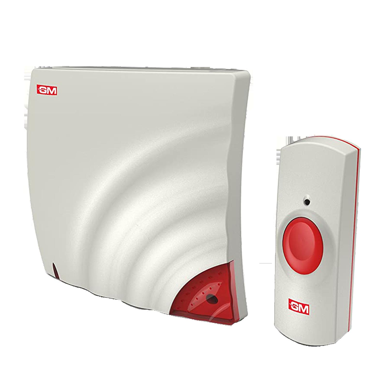 GM Wave Door Bell (Wireless, 4061, White/Red)_1
